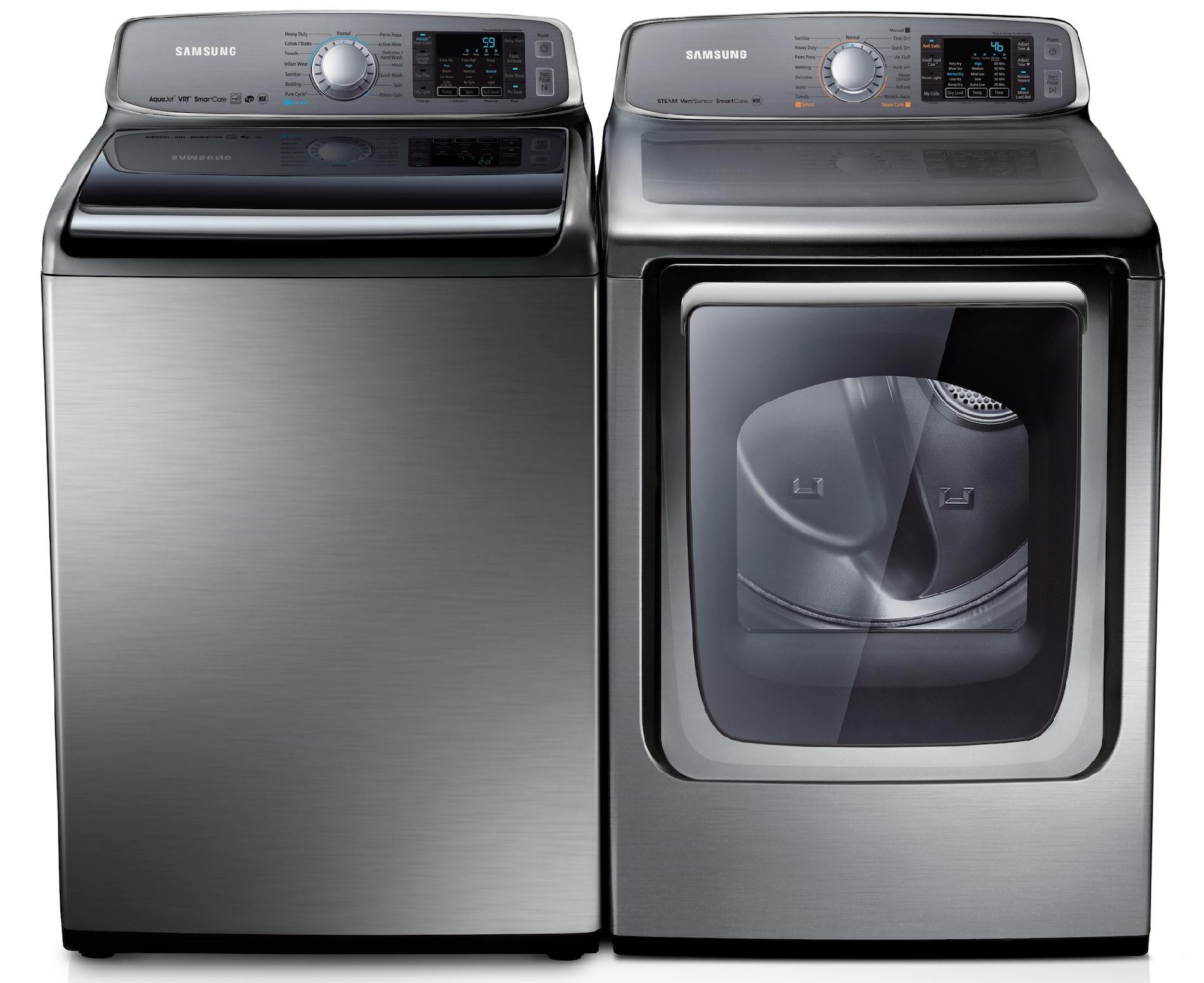 Samsung 5.0 cu. ft. Top-Load Washer w/ Internal Heater - Stainless Platinum