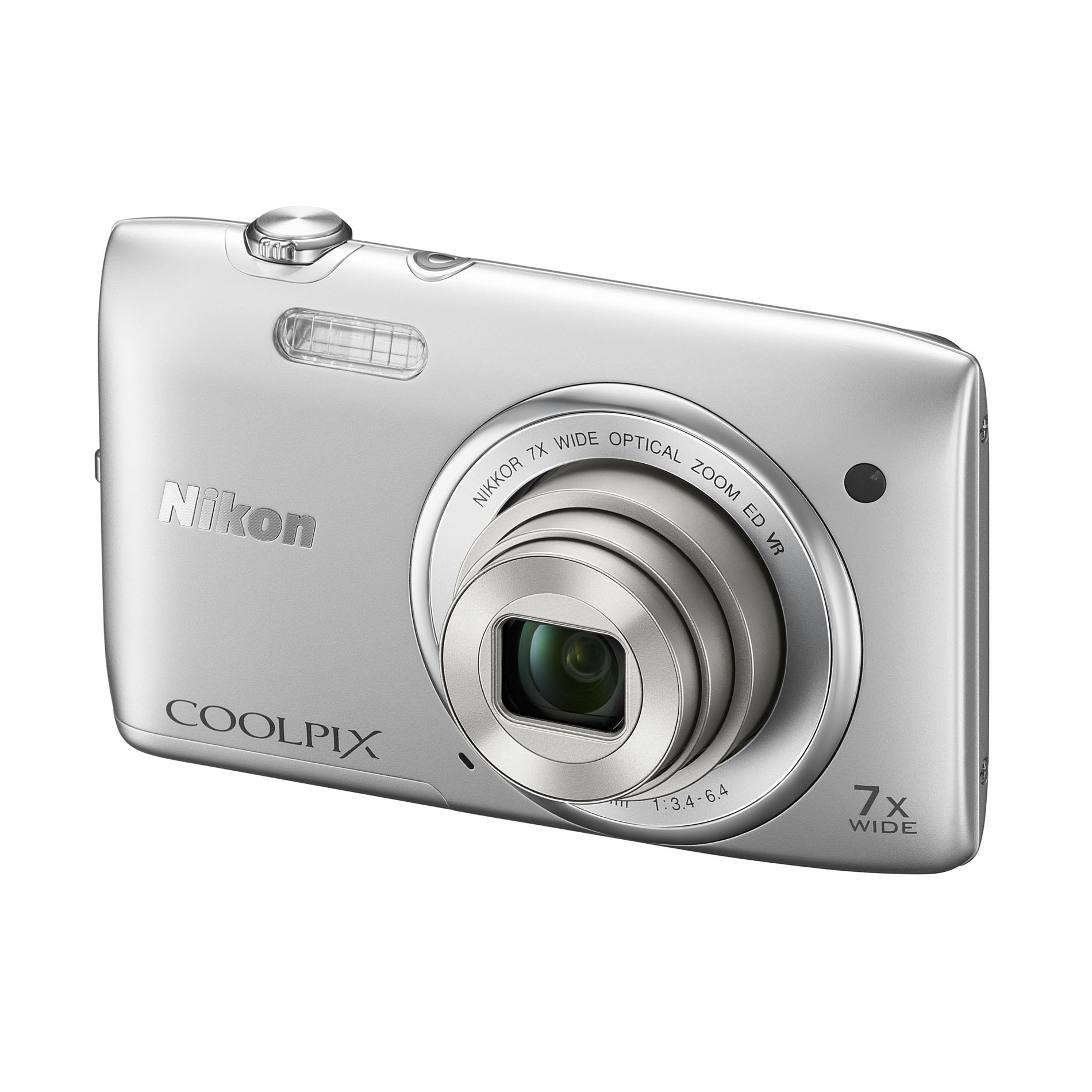 Nikon COOLPIX 20.1MP Digital Camera S3500 Silver