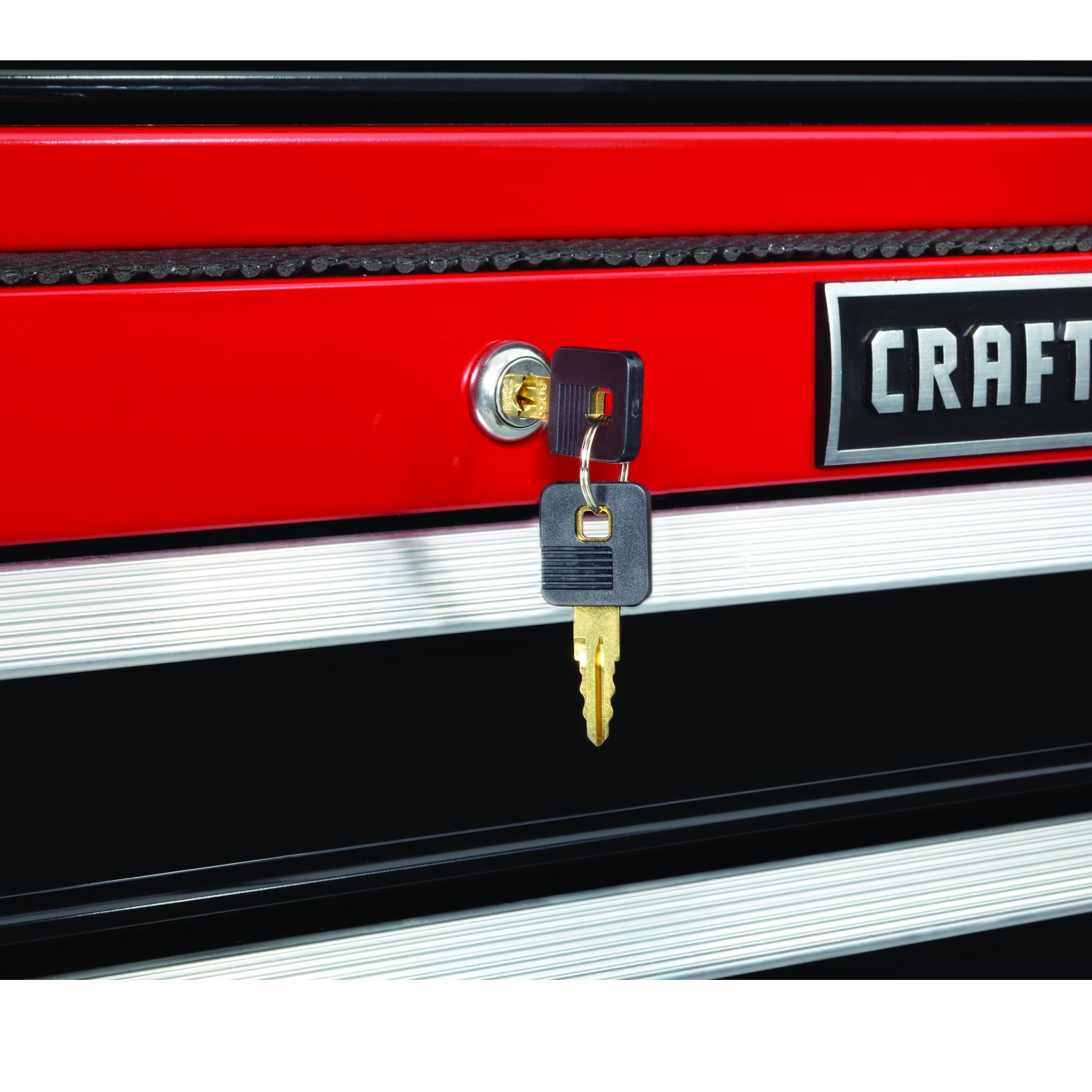 Craftsman 26 in. 4-Drawer Ball Bearing Griplatch Top Chest - Red