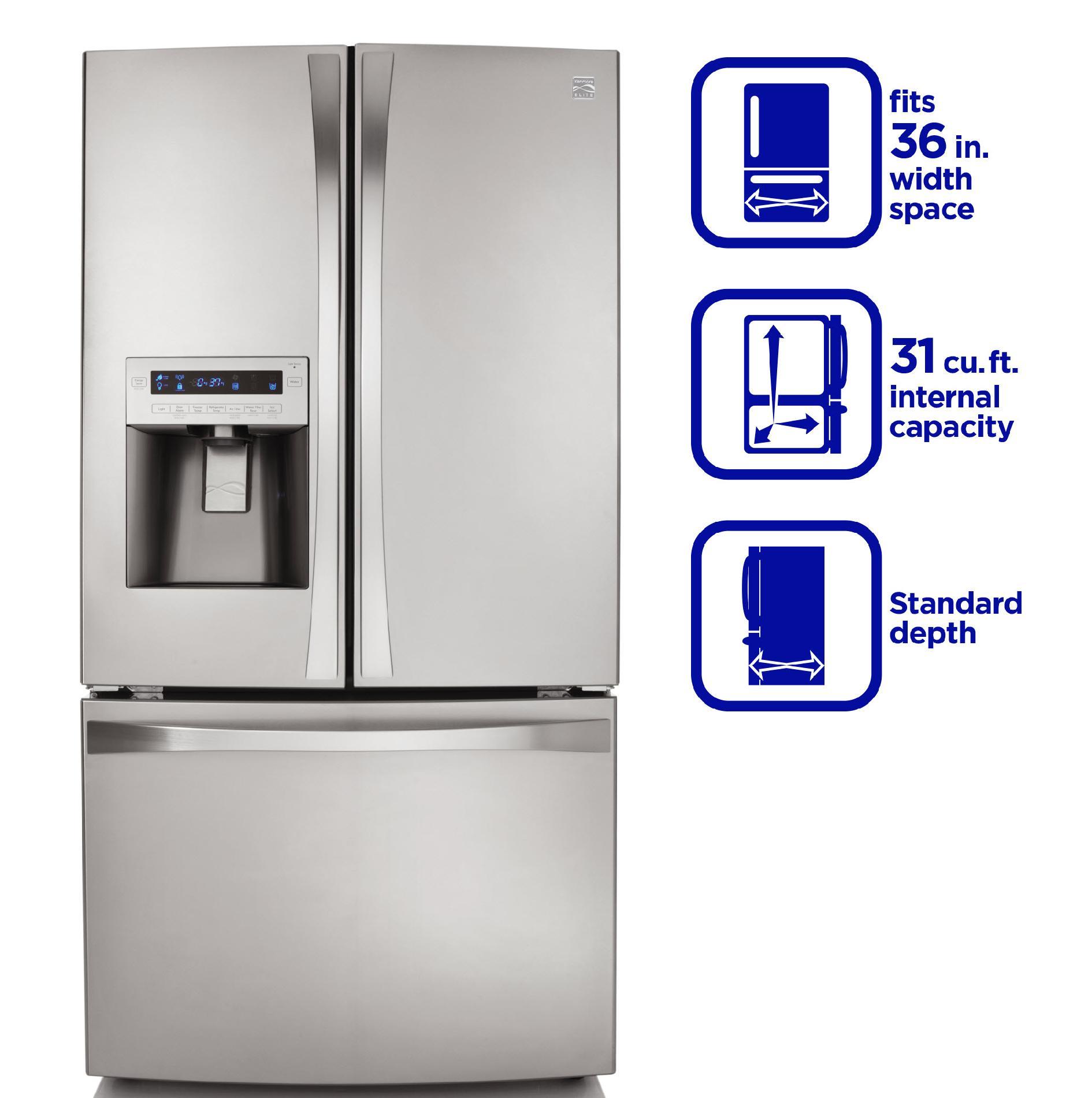 Kenmore Elite French Door Refrigerator Water Filter Photos Wall