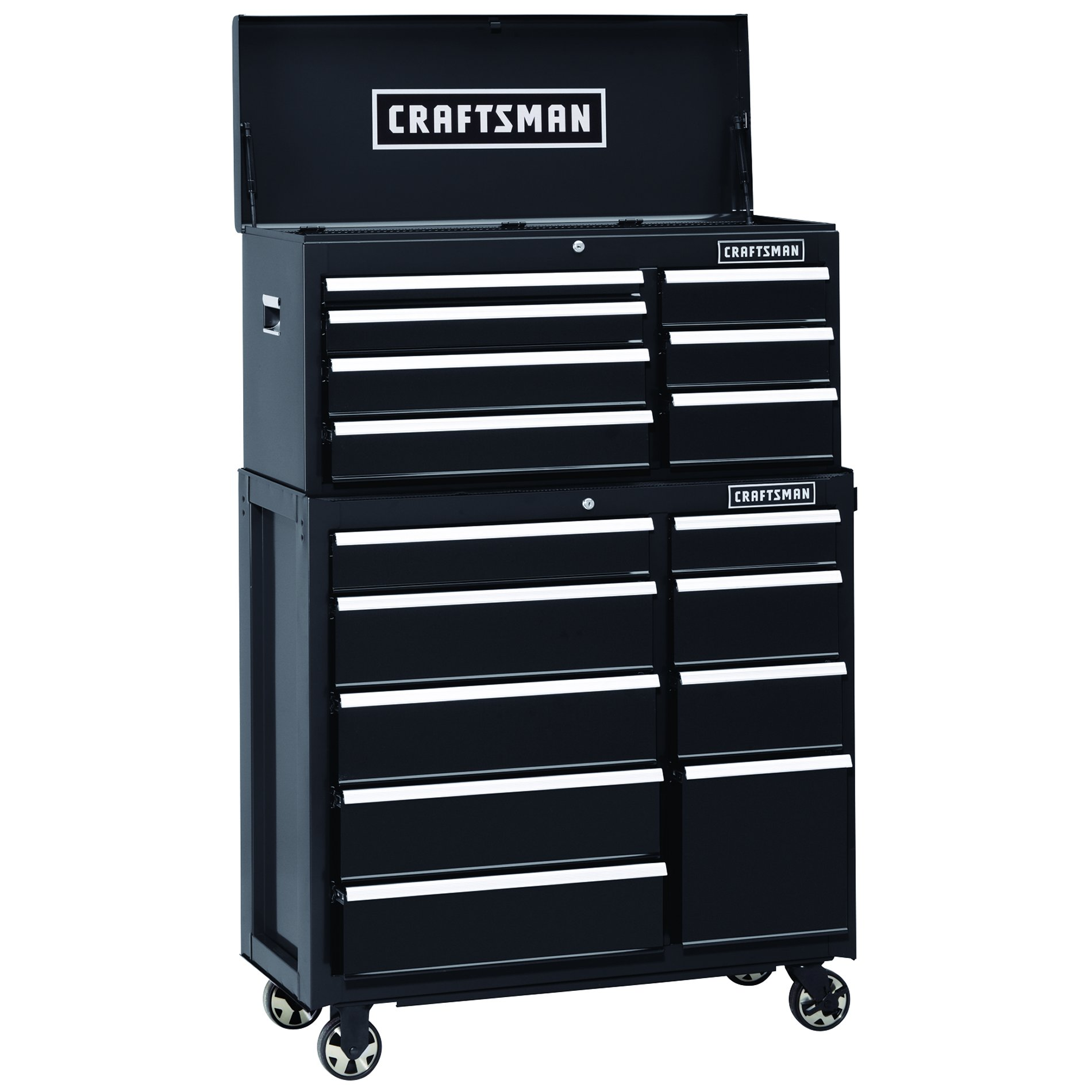 Craftsman 40 in. 9-Drawer Heavy-Duty Ball Bearing Rolling Cabinet- Black