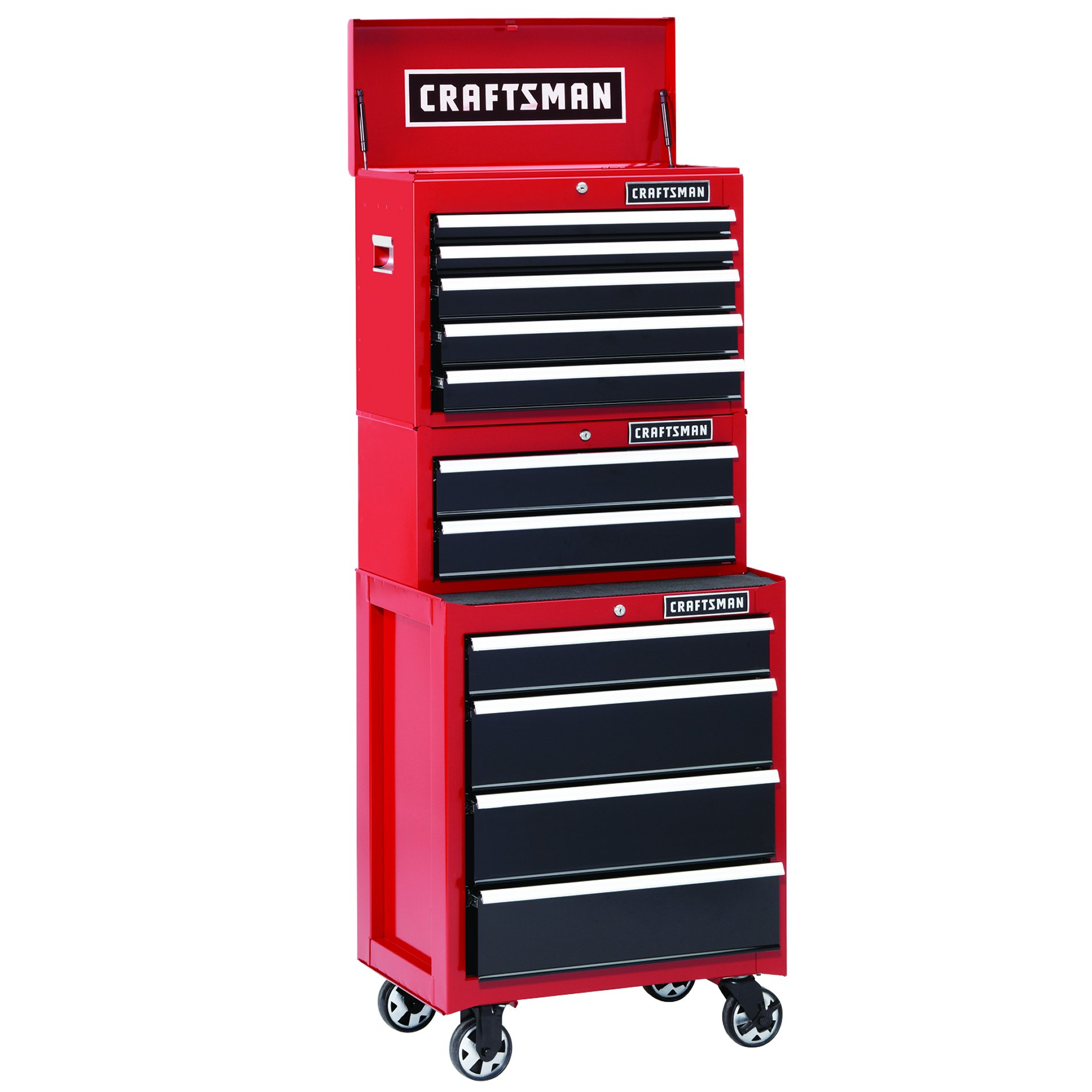 Craftsman 26 in. 2-Drawer Heavy-Duty Ball Bearing Middle Chest - Red/Black
