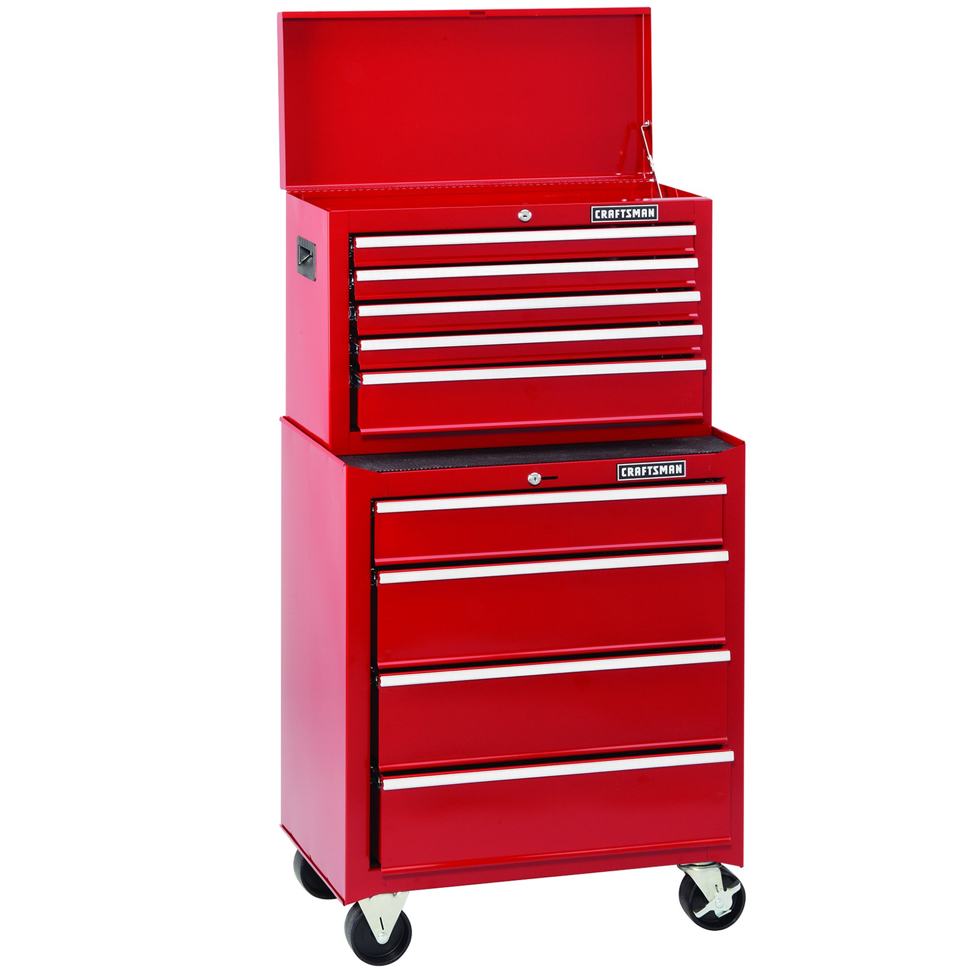 Craftsman 26 In. 5-Drawer Standard Duty Ball Bearing Top Chest - Red