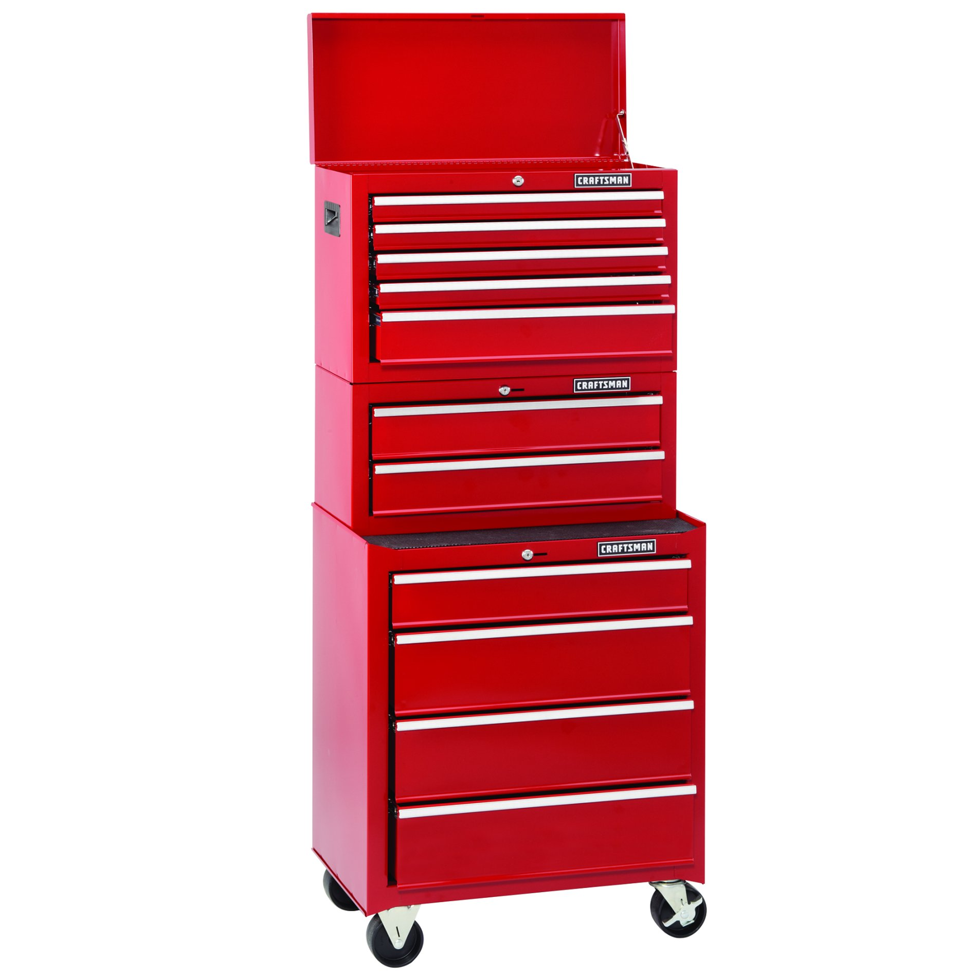 Craftsman 26 in. 2-Drawer Standard Duty Ball Bearing Middle Chest - Red
