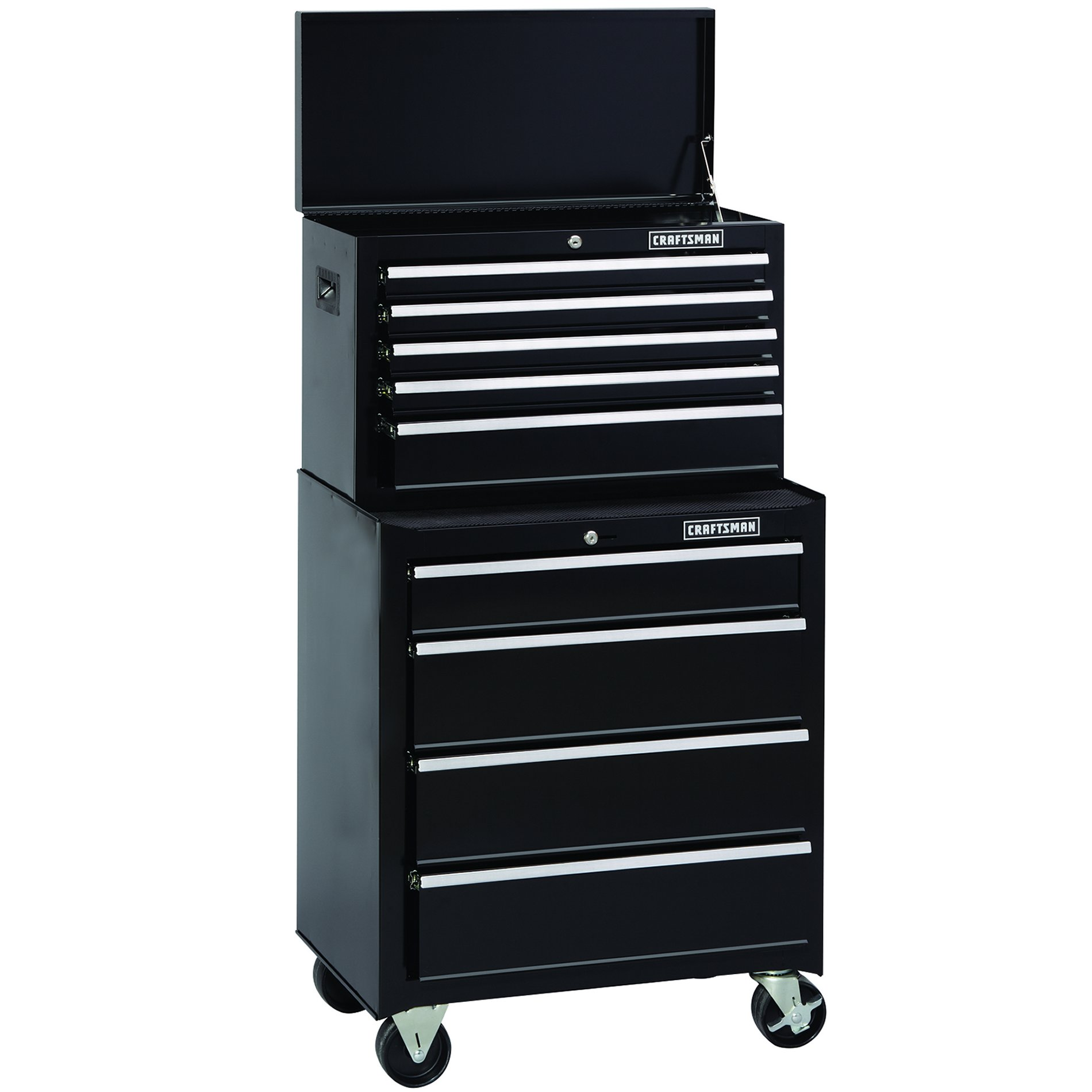 Craftsman 26 in. Wide 5-Drawer Standard Duty Ball-Bearing Top Chest - Black