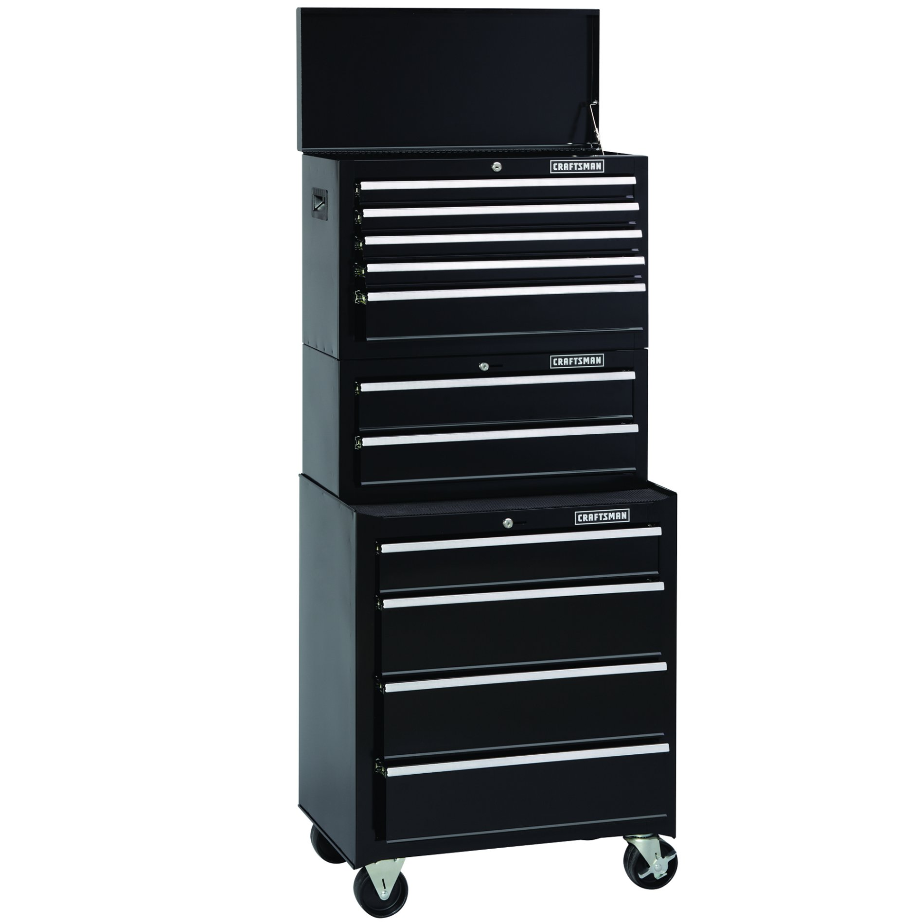 Craftsman 26 in. 4-Drawer Standard Duty Ball Bearing Rolling Cabinet - Black