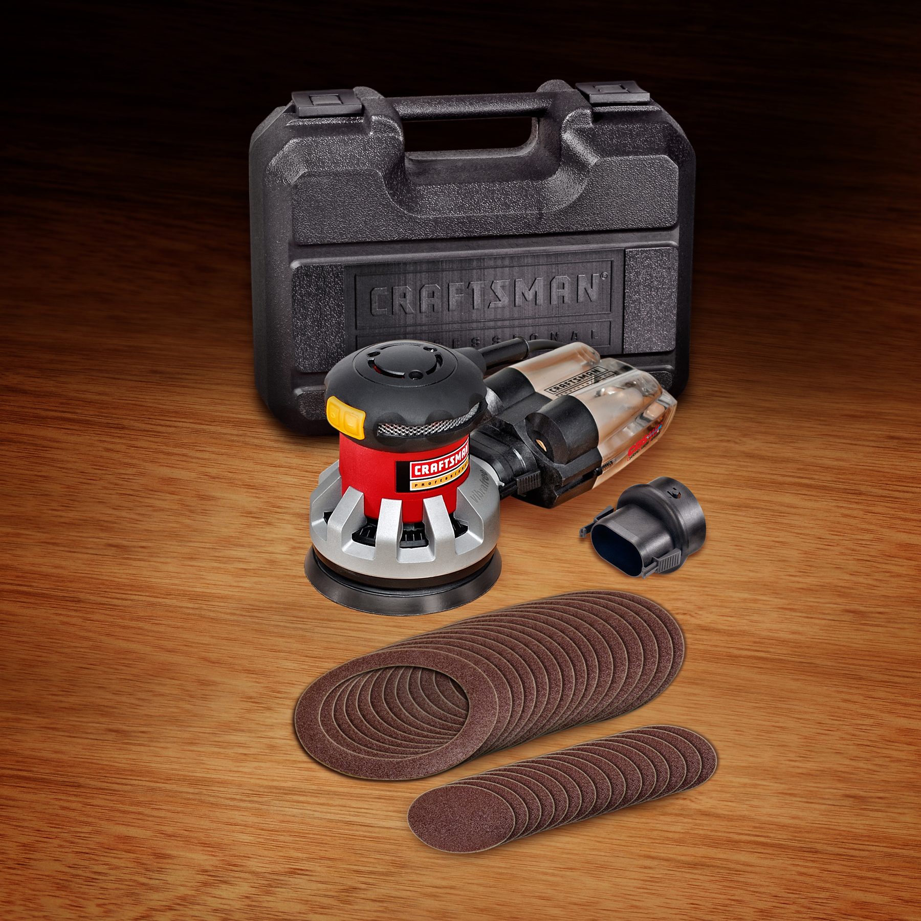 "Craftsman Professional 25927 Vibrafree™ 2.7 amp Corded 5"" Random Orbit Sander with CDS Dust Collection"