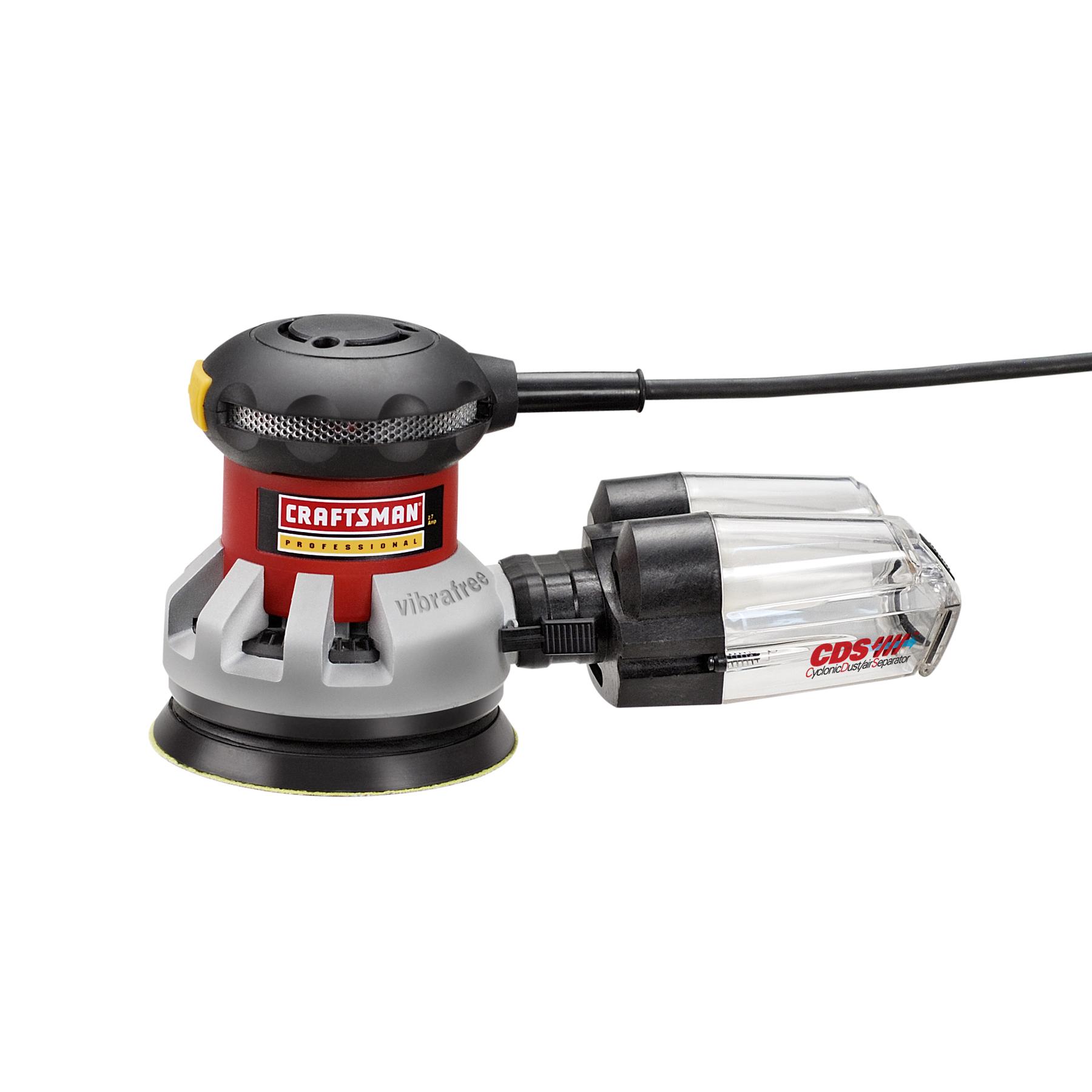 "Craftsman Professional 25927 Vibrafree™ 2.7 amp Corded 5"" Random Orbit Sander with CDS Dust Collection"