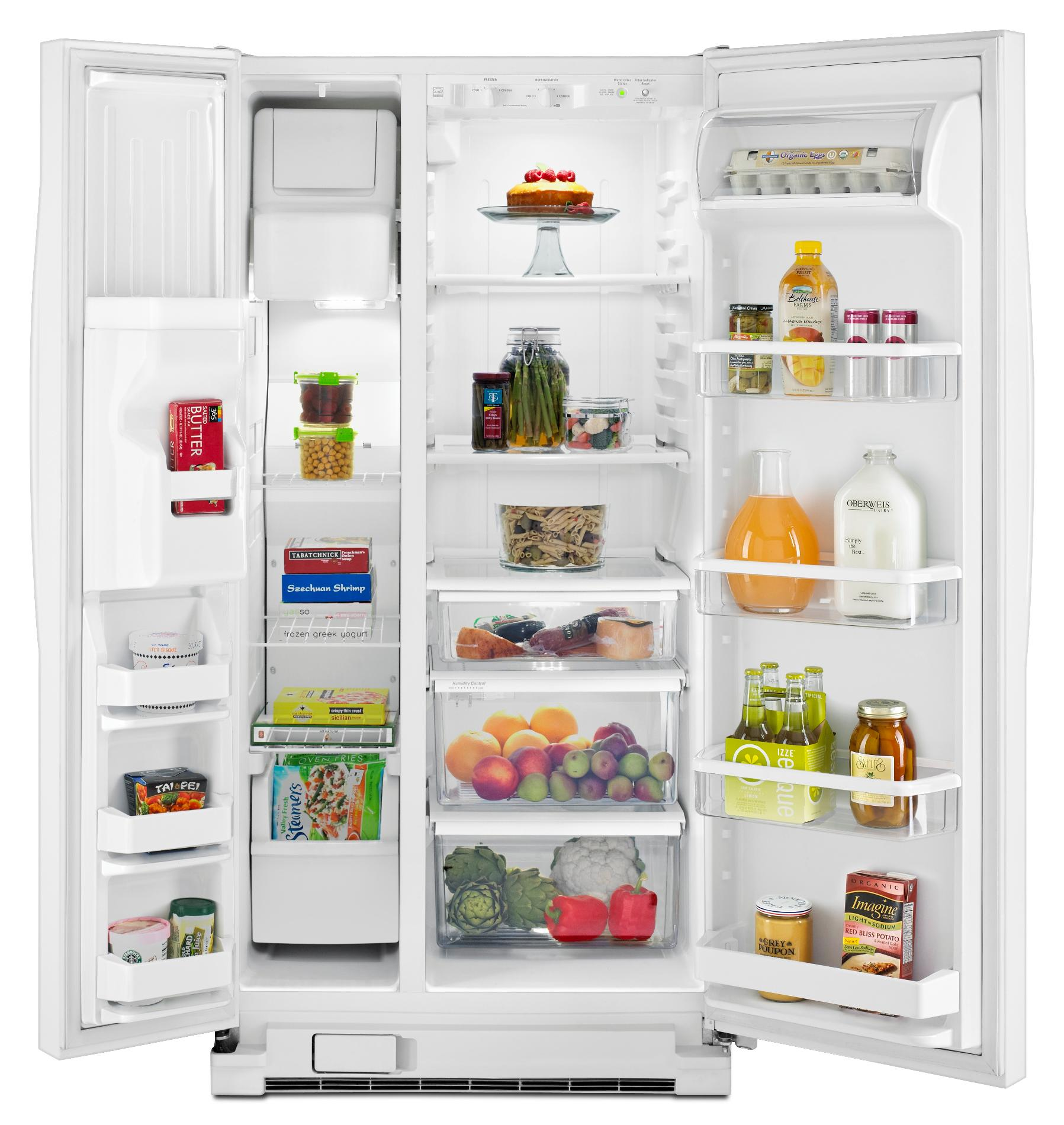 Whirlpool WRS322FDAW 21.0 cu. ft. Side-by-Side Refrigerator w/ Accu-Chill™ - White