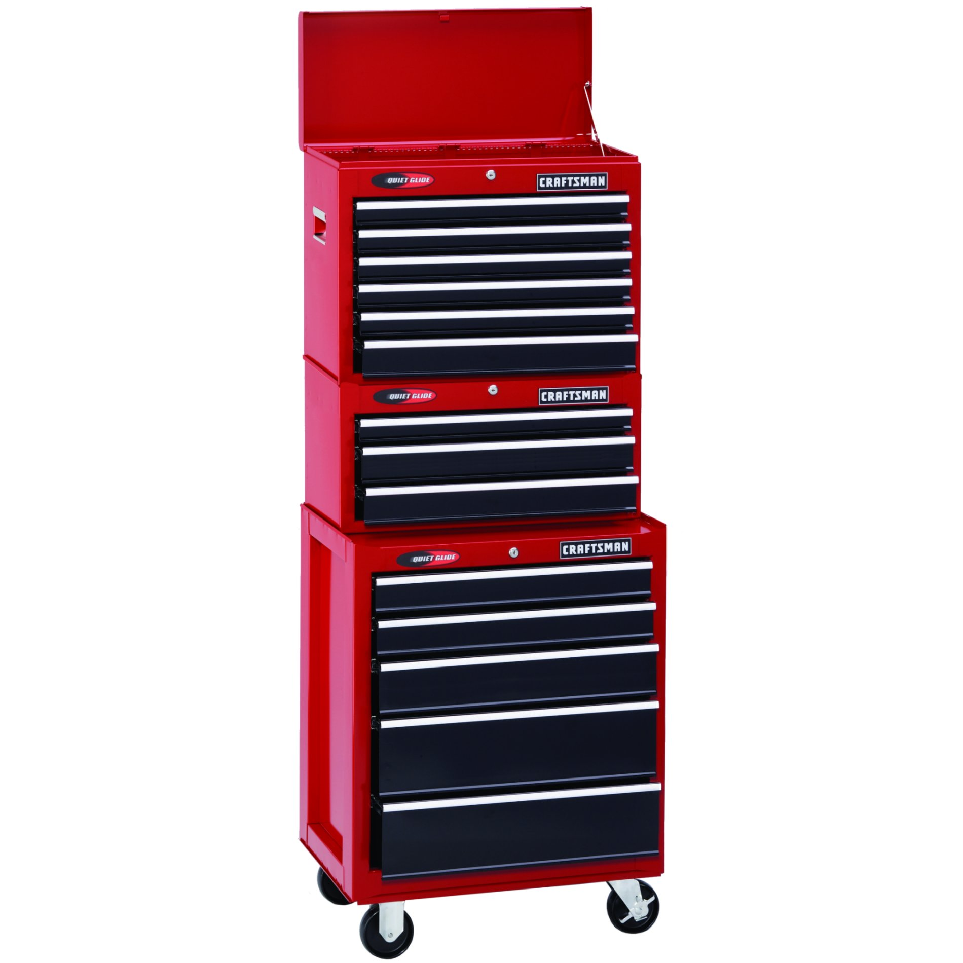 "Craftsman 26"" Wide 5-Drawer Quiet Glide™  Bottom Chest - Red/Black"