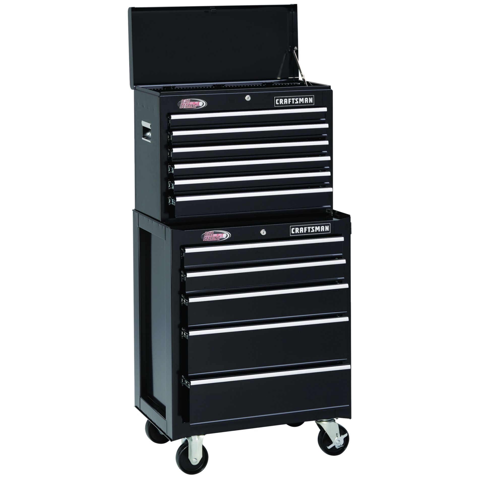 "Craftsman 26"" 6-Drawer Ball-Bearing Tool Chest - Black"