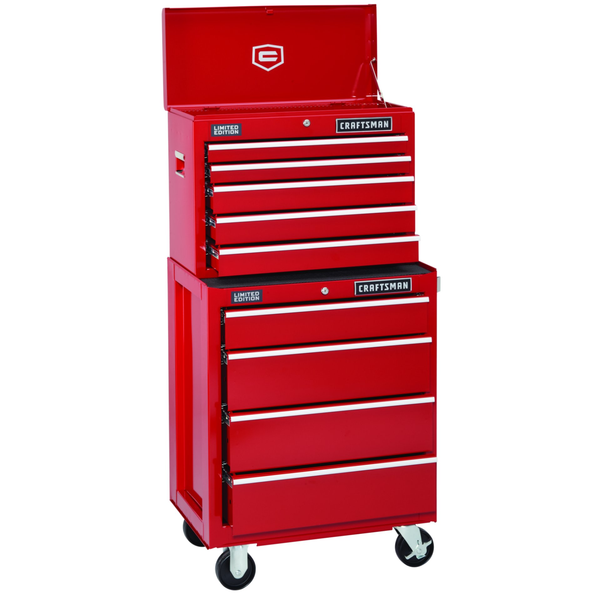 "Craftsman 26"" Red 4-Drawer Red Ball-Bearing GRIPLATCH® Bottom Chest"