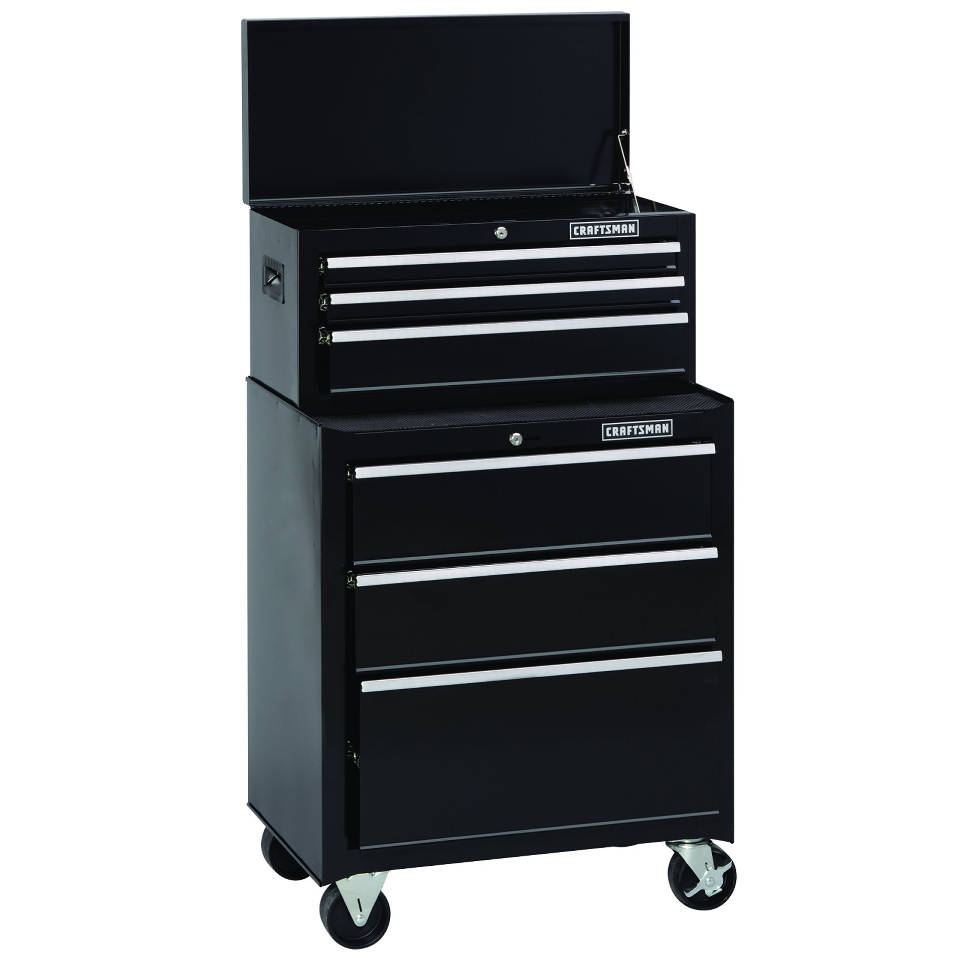 Craftsman 26 in. Wide 3-Drawer Standard Duty Ball-Bearing Rolling Cabinet - Black