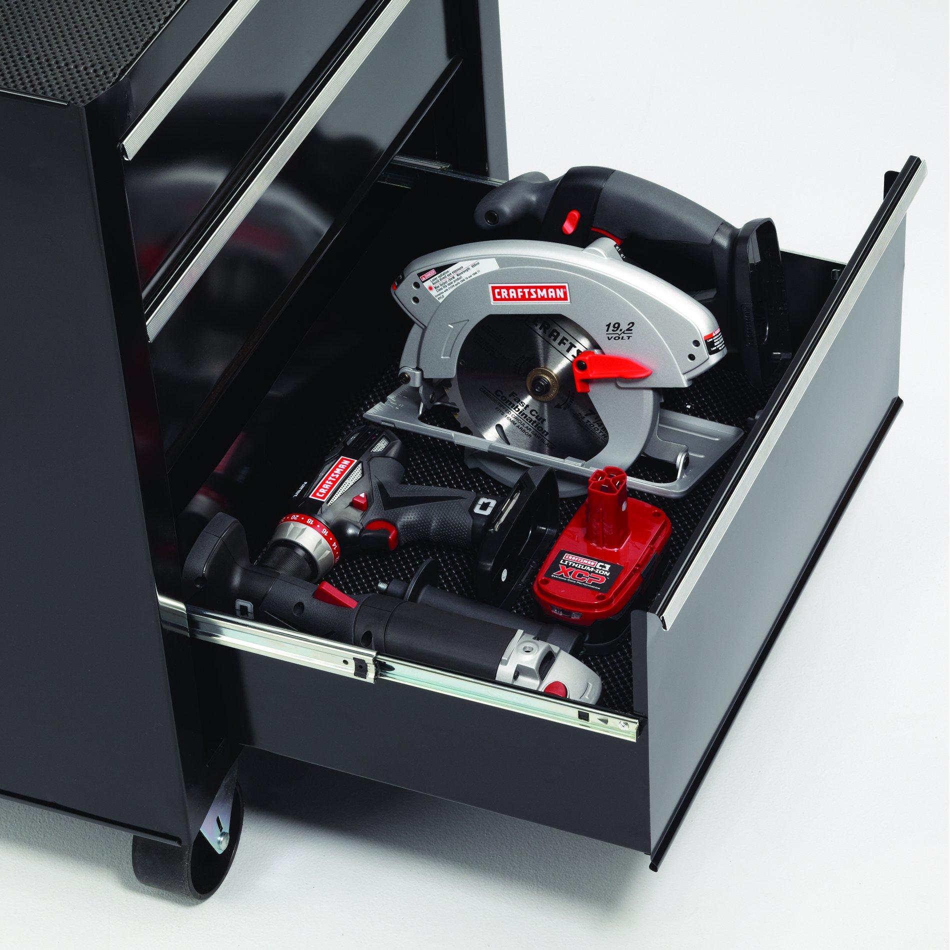 Craftsman 26 in. Wide 3-Drawer Standard Duty Ball-Bearing Rolling Cabinet - Black