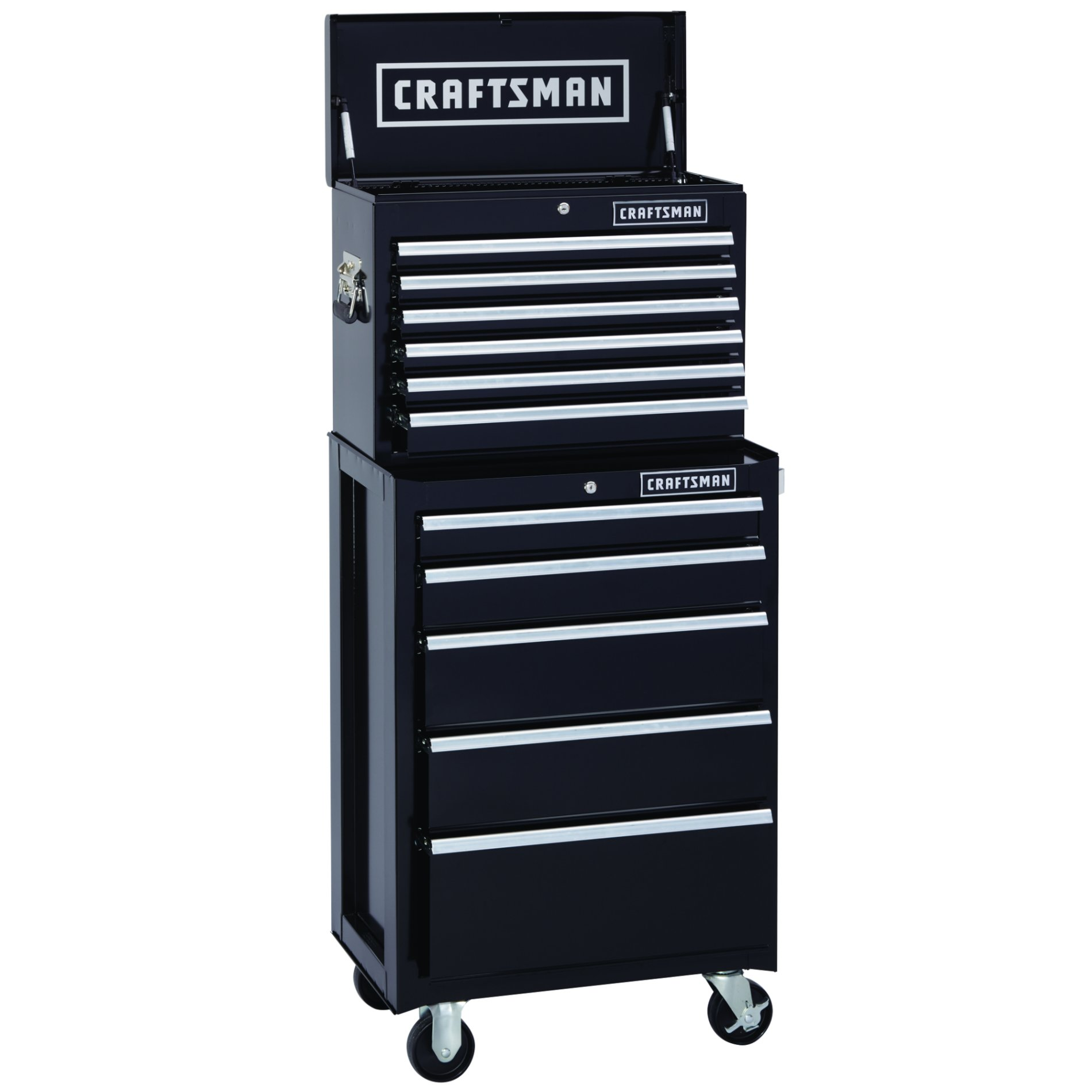 Craftsman 26.5 in. Wide 5 Drawer Bottom Chest, Black