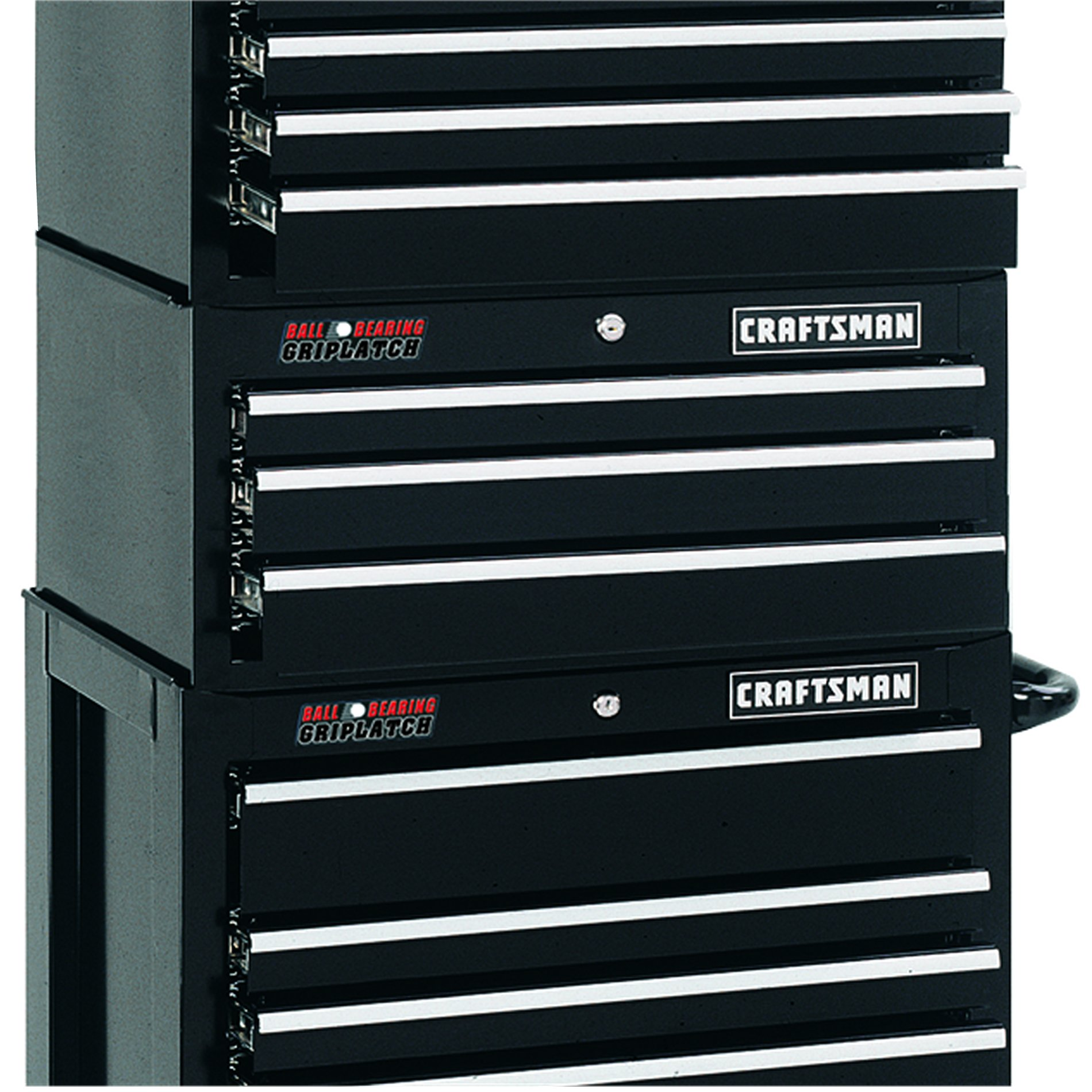 "Craftsman 26"" Wide 3-Drawer Ball-Bearing GRIPLATCH® Middle Chest - Black"