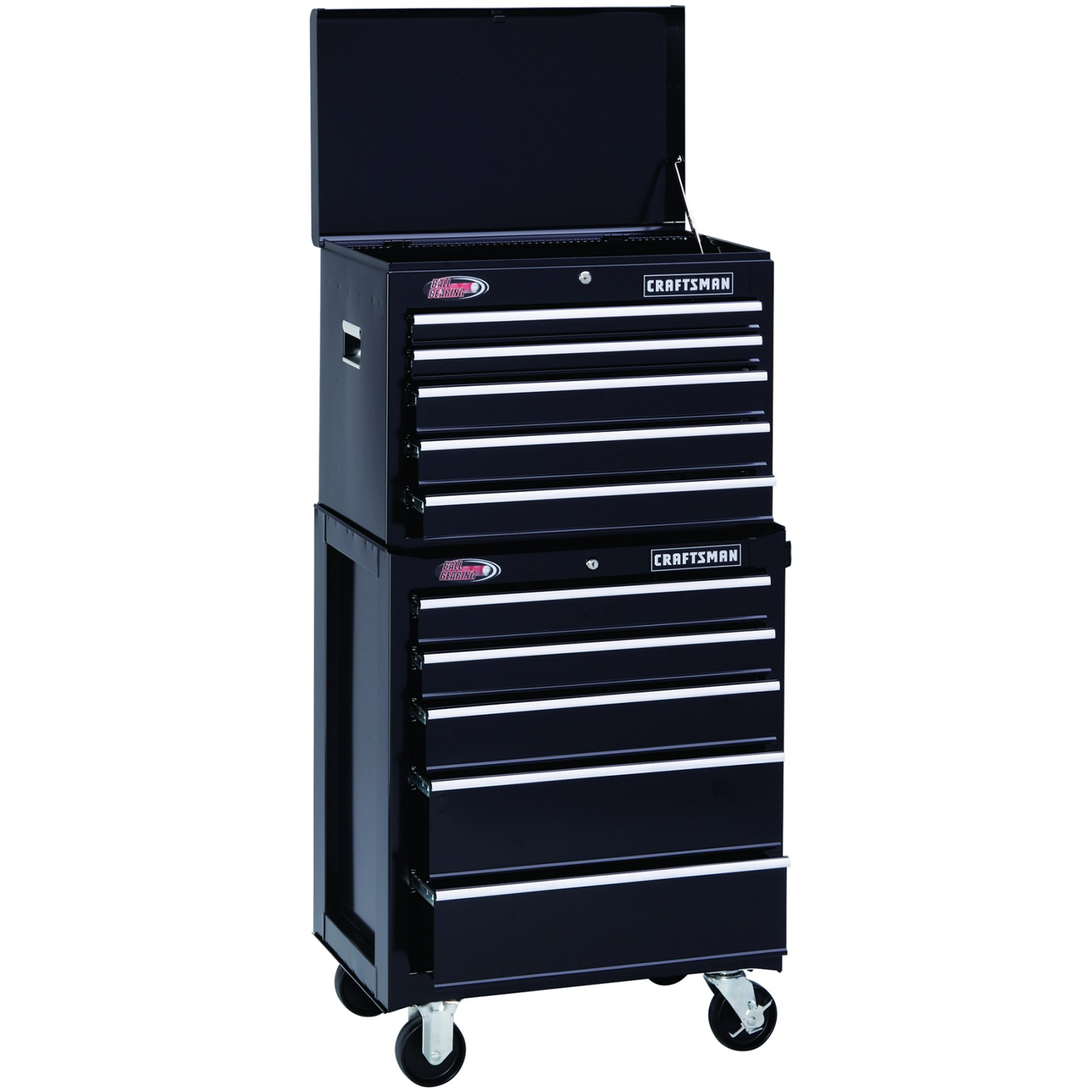 "Craftsman 26"" Wide 5-Drawer Ball-Bearing Top Chest - Black"
