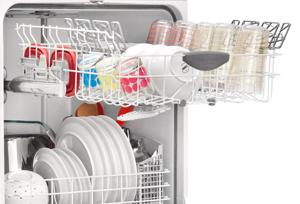 "Frigidaire Gallery Gallery 24"" Built-In Dishwasher w/ Nylon Racks - White"
