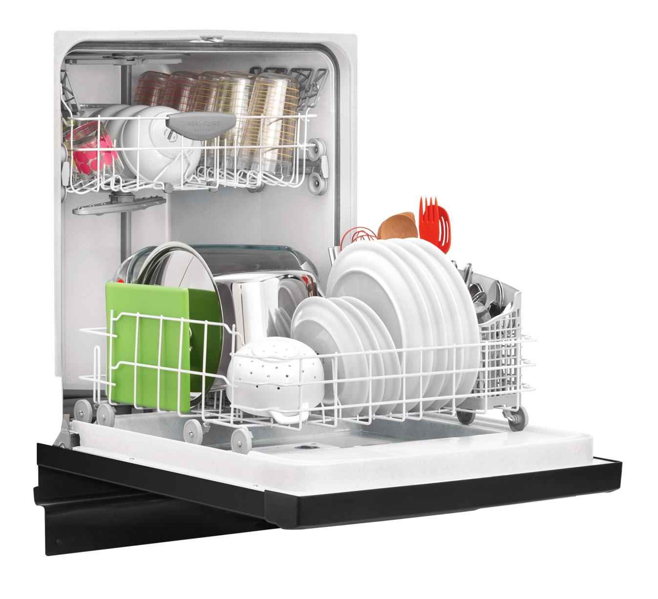 "Frigidaire Gallery Gallery 24"" Built-In Dishwasher w/ Nylon Racks - Black"
