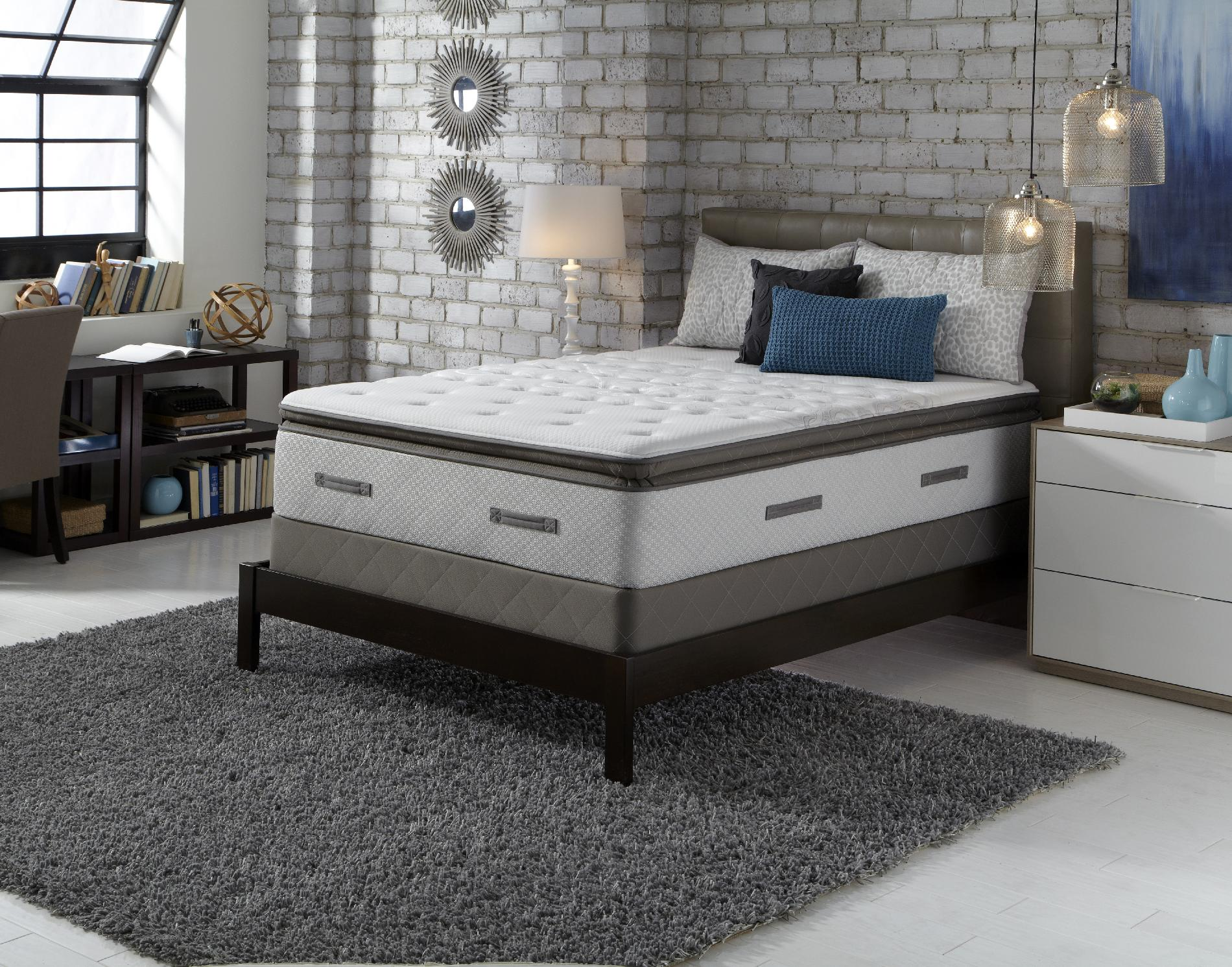 Sealy Posturepedic Granite Bay Ti2 II, Cushion Firm Euro Pillowtop, Full Extra Long Mattress Only
