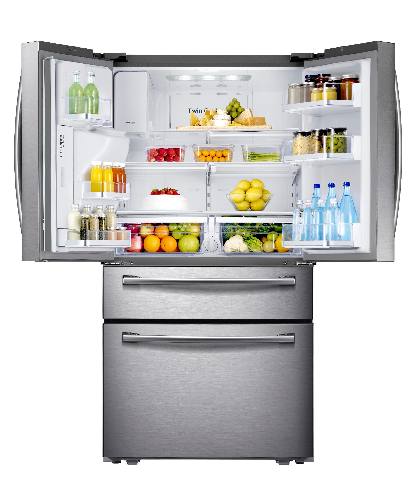 Samsung 30.5 cu. ft. 4-Door Refrigerator w/ Automatic Sparkling Water Dispenser - Stainless Steel