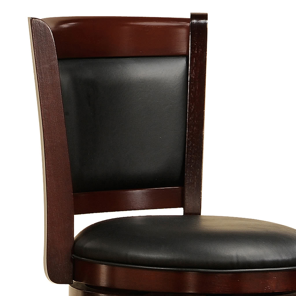 Oxford Creek 24 in. H Swivel Pub Chair in Cherry