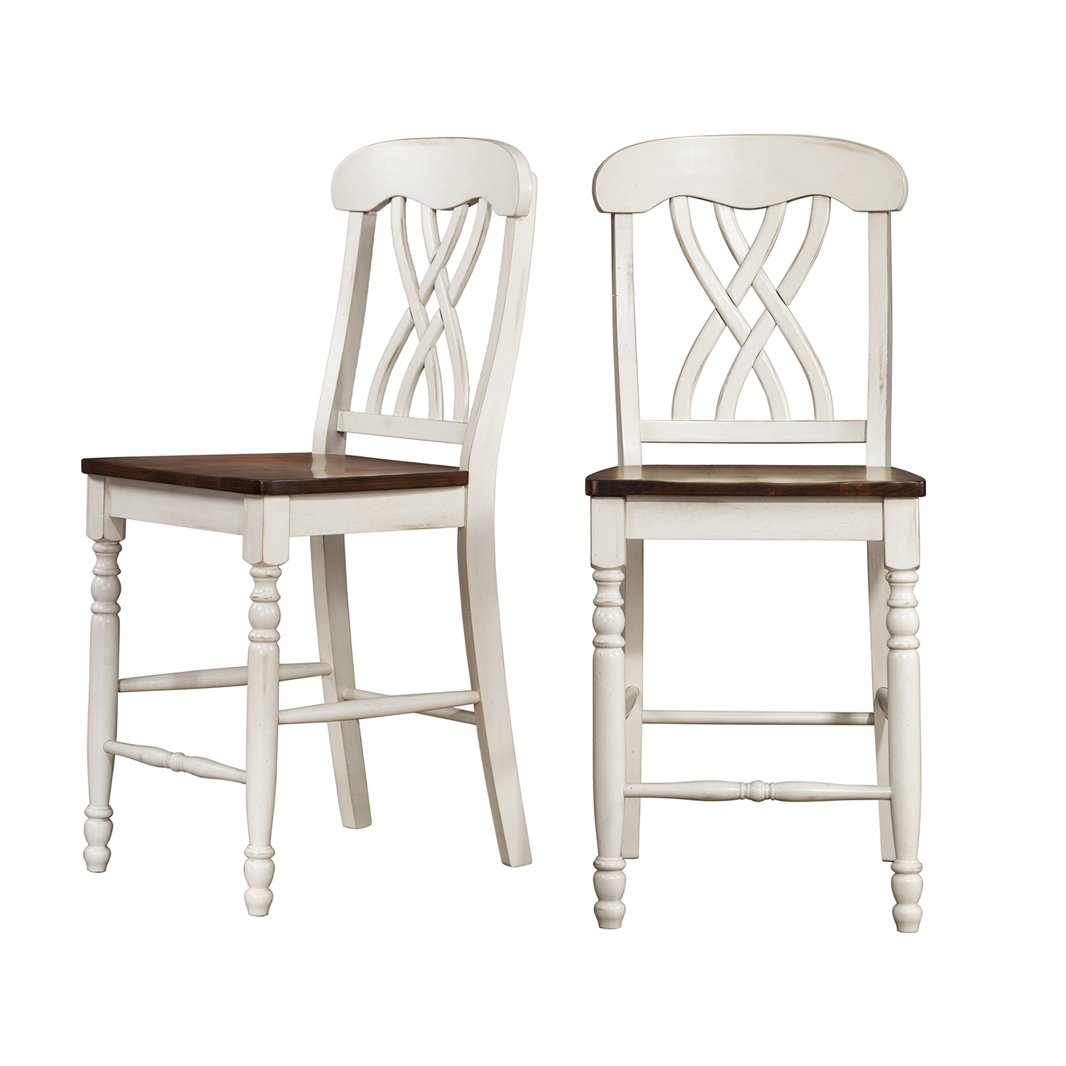 Oxford Creek 24-inch Counter Height Chairs (Set of 2)