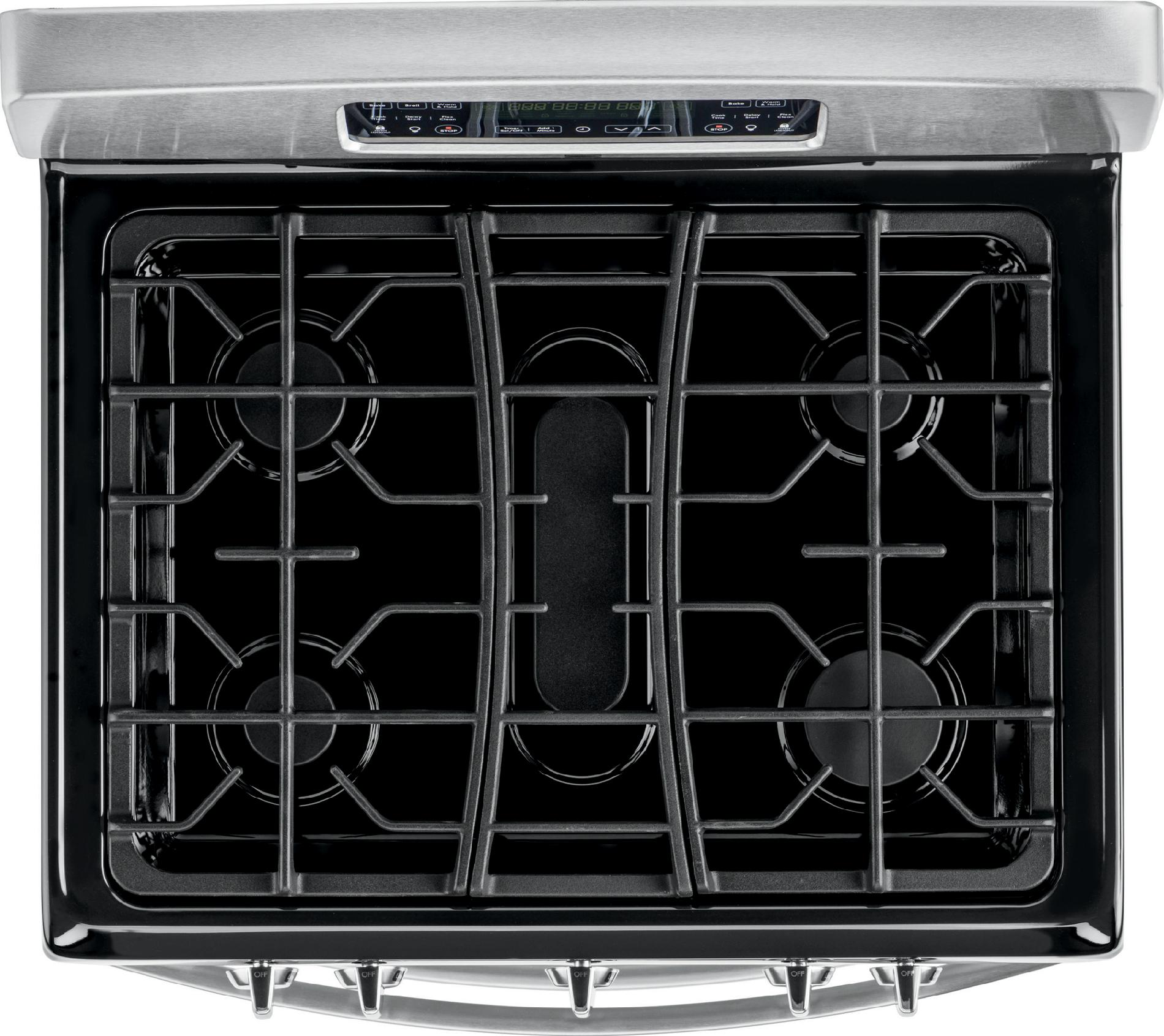 Kenmore 5.8 cu. ft. Double-Oven Gas Range - Stainless Steel w/ Black