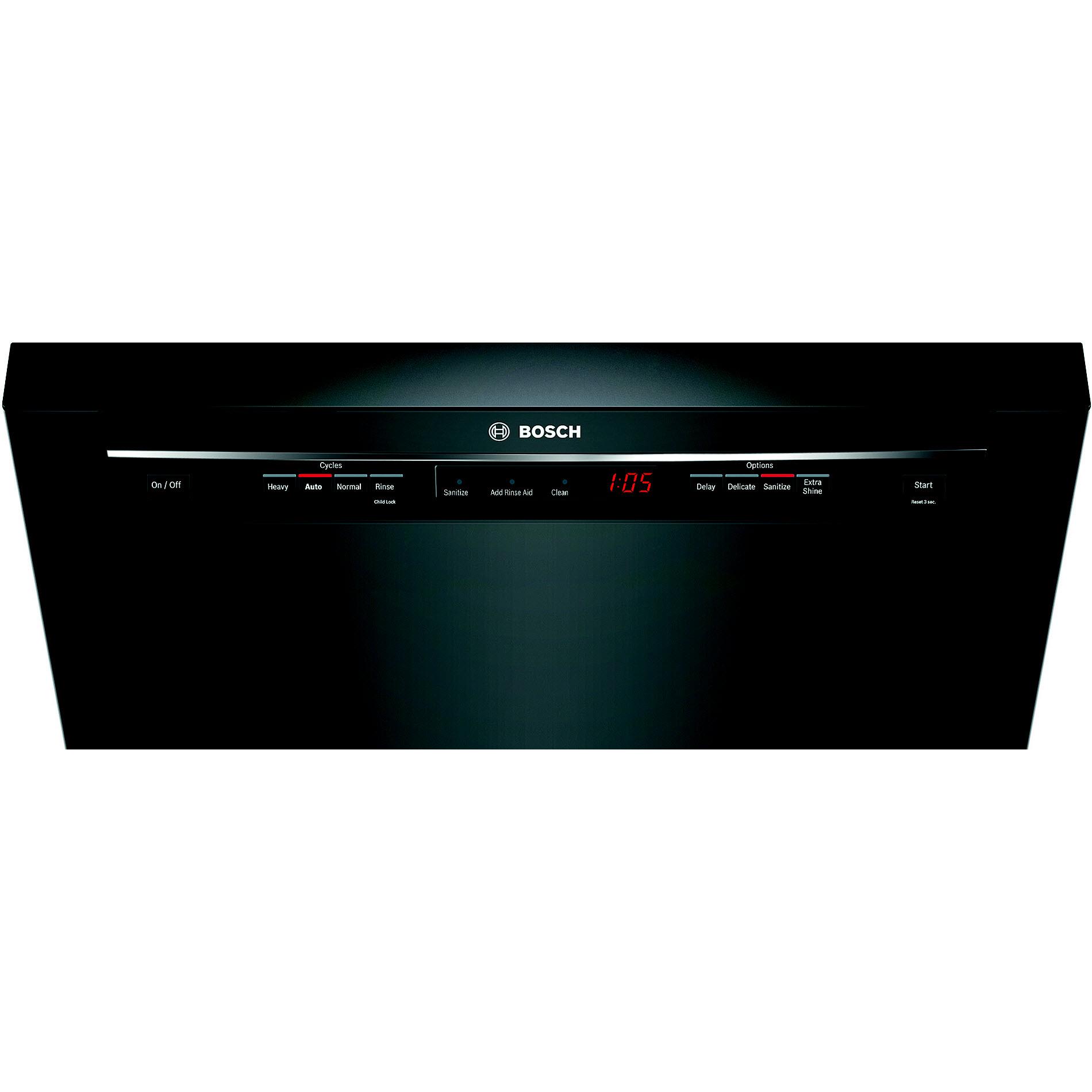 """Bosch 24"""" 300 Series Built-In Dishwasher - Black"""
