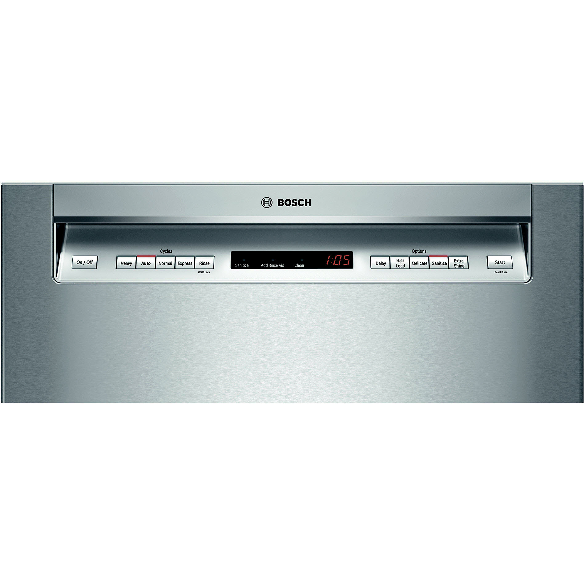 "Bosch SHE65T55UC 24"" 500 Series Built-In Dishwasher - Stainless Steel"