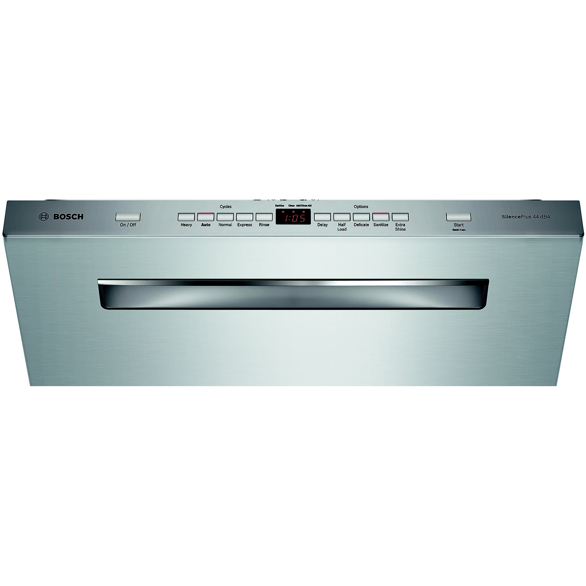 "Bosch SHP65T55UC 500 Series 24"" Pocket Handle Dishwasher - Stainless Steel"
