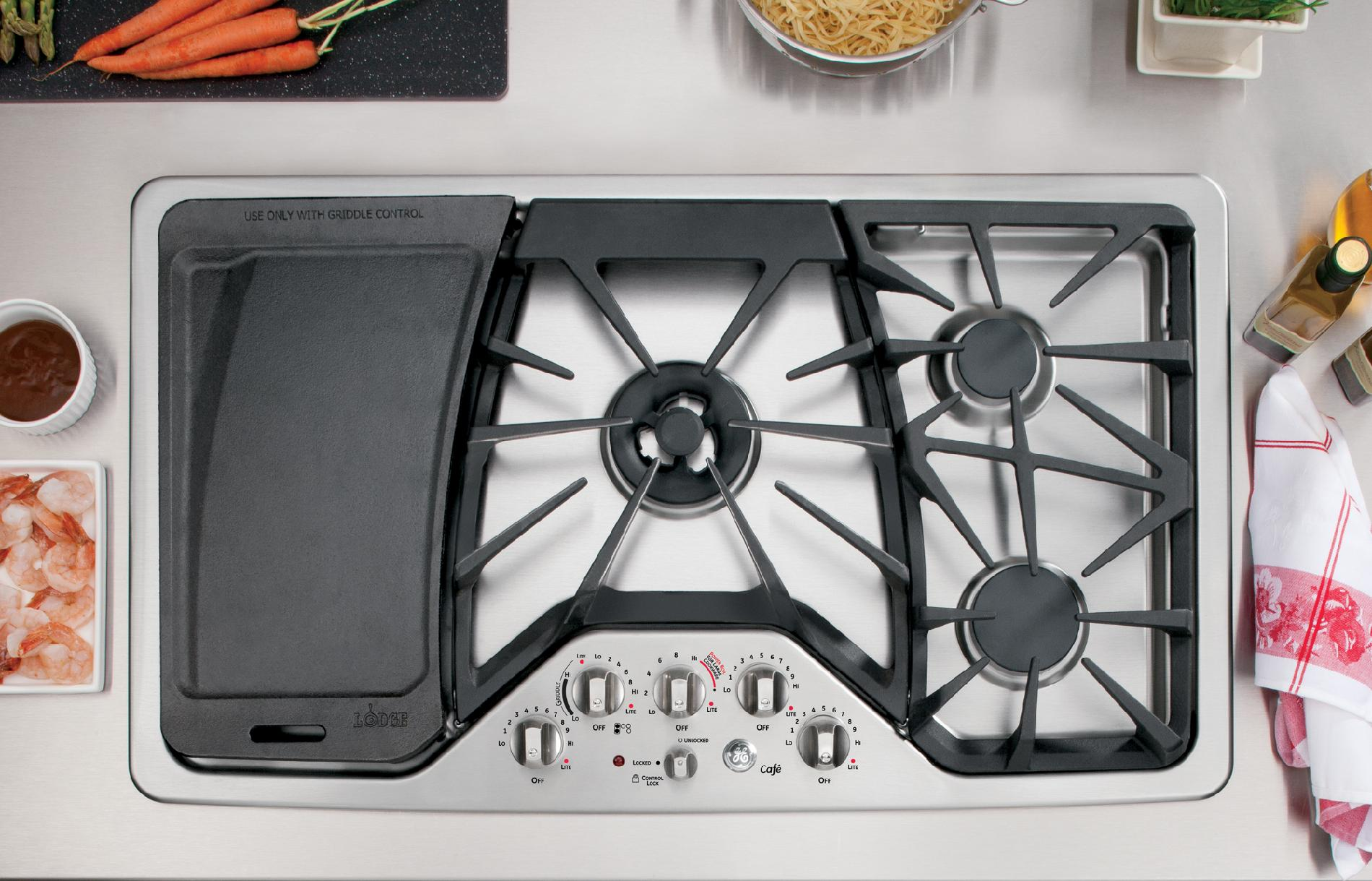 "GE Cafe™ Series CGP650SETSS 36"" Gas Cooktop - Stainless Steel"