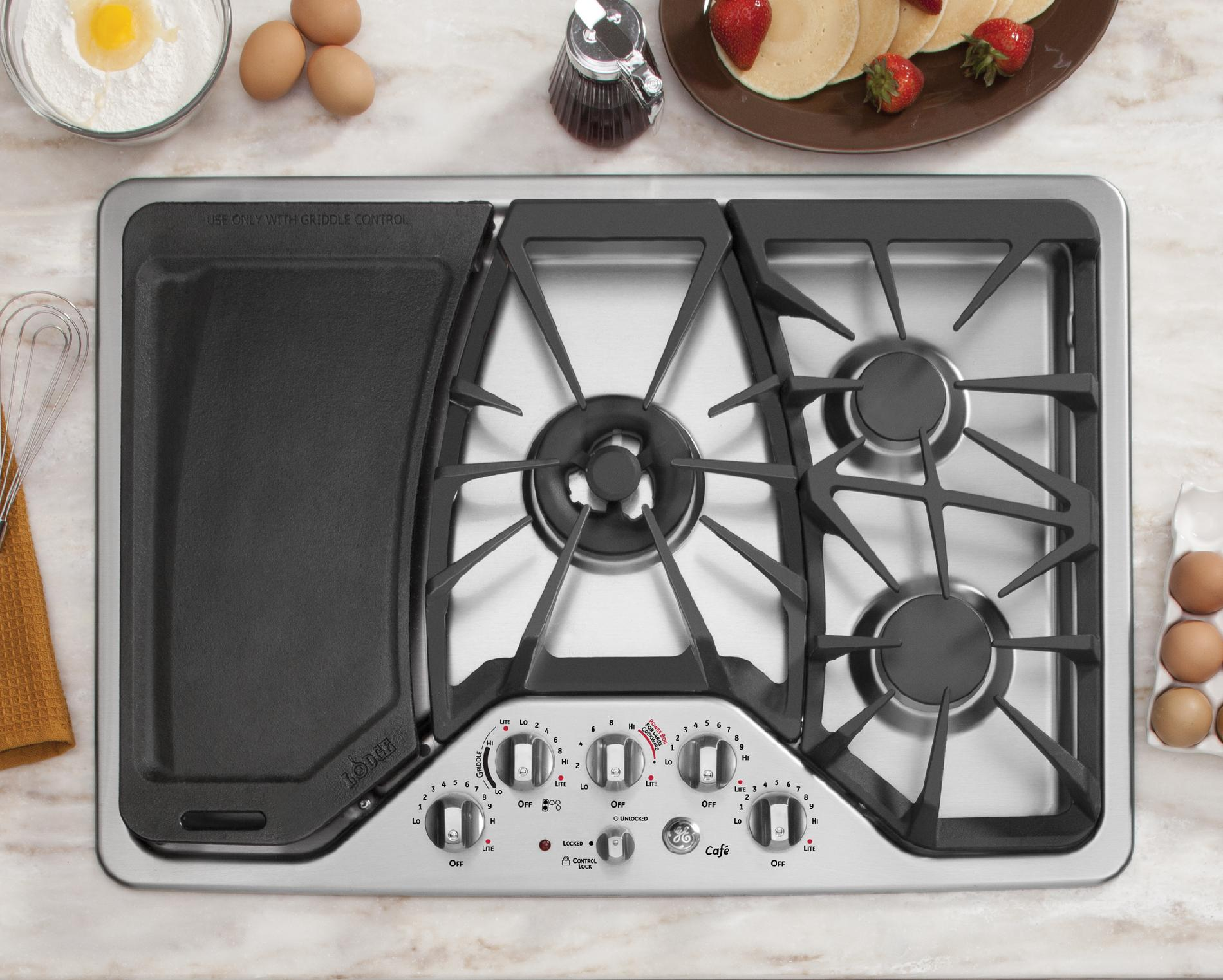 "GE Cafe™ Series CGP350SETSS 30"" Gas Cooktop - Stainless Steel"