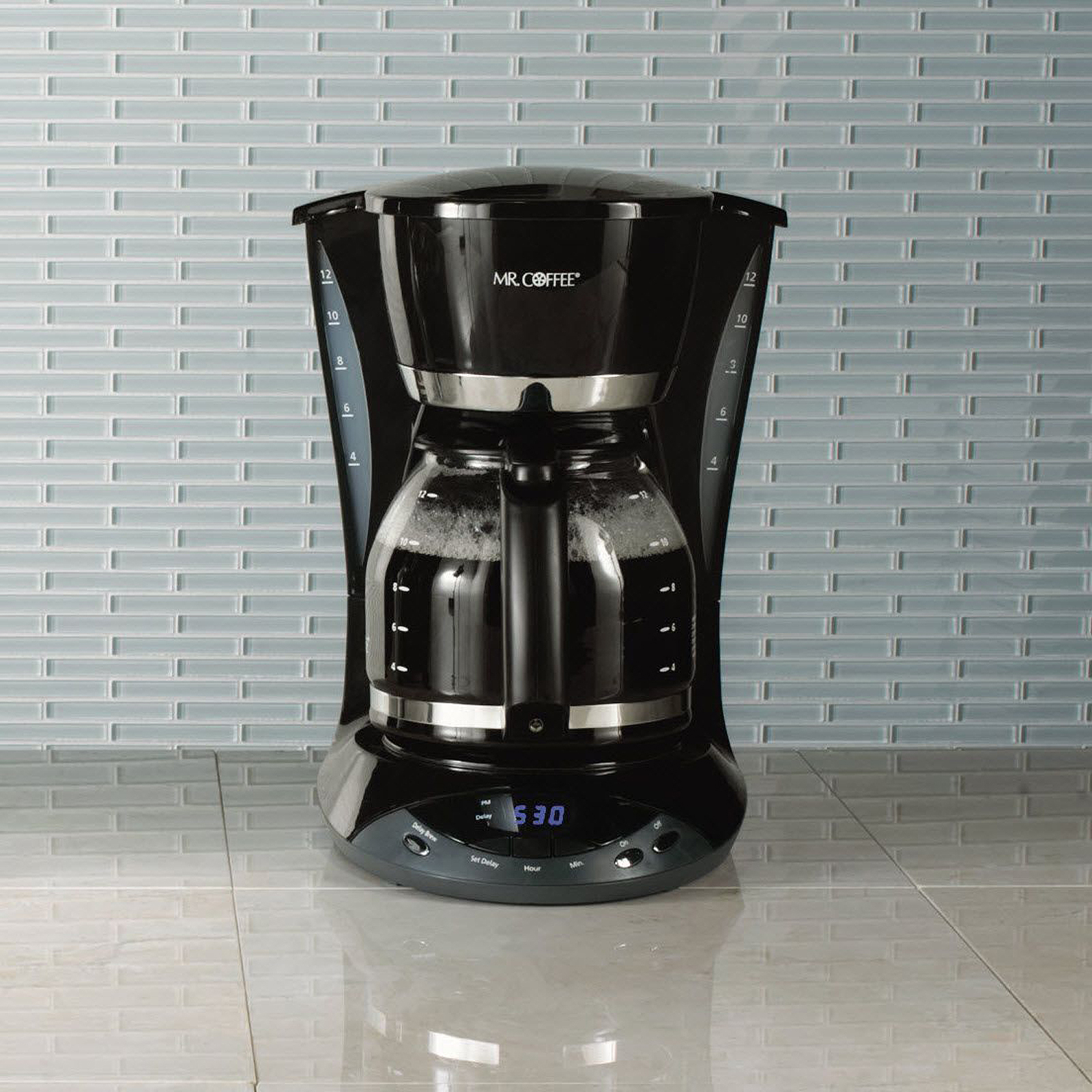 Mr. Coffee 12-Cup Programmable Coffee Maker in Black