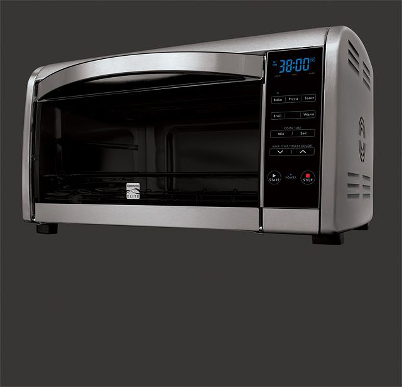 Kenmore Elite Infrared Convection Toaster Oven, Brushed Aluminum/Stainless Steel
