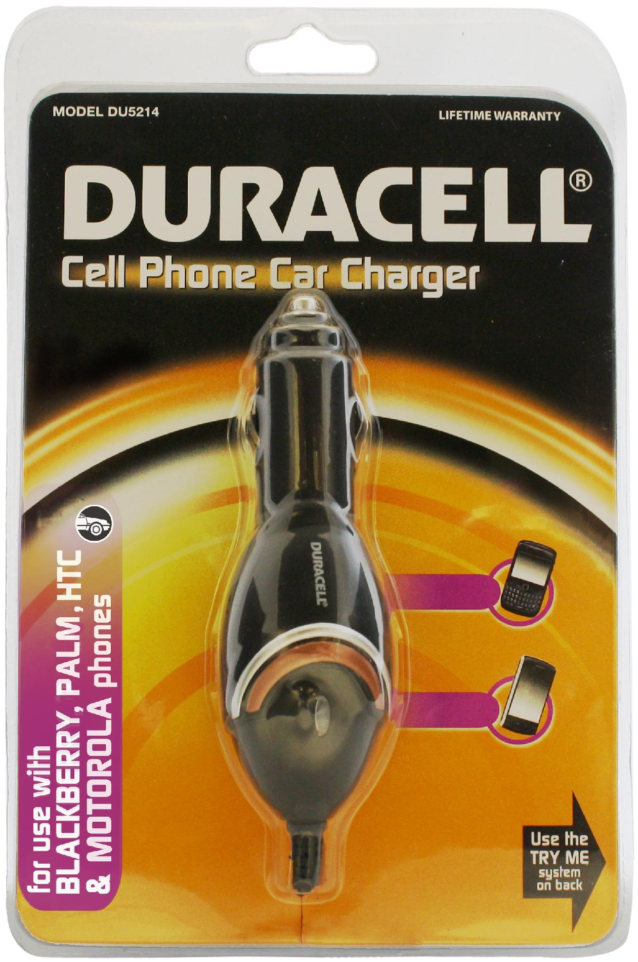 Duracell Car Charger For Blackberry & Treo Cellular Phones