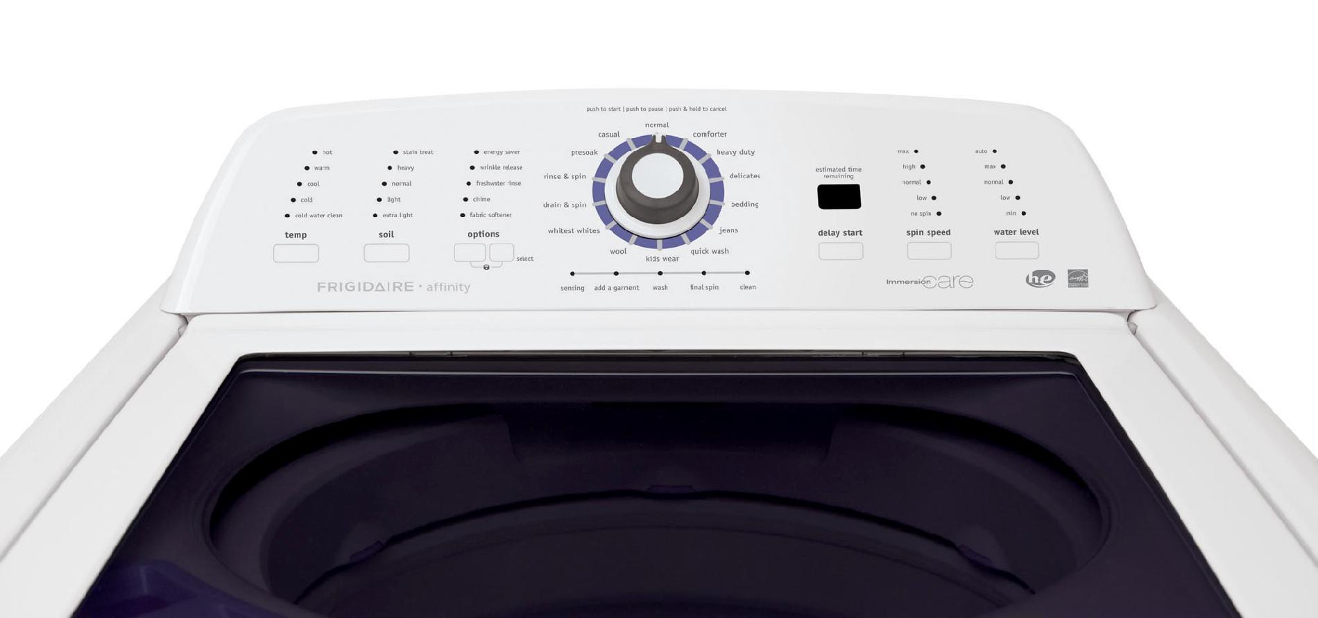 Frigidaire Affinity 3.4 cu. ft. Top-Load Washer w/ WaterFall™ Wash Technology - White