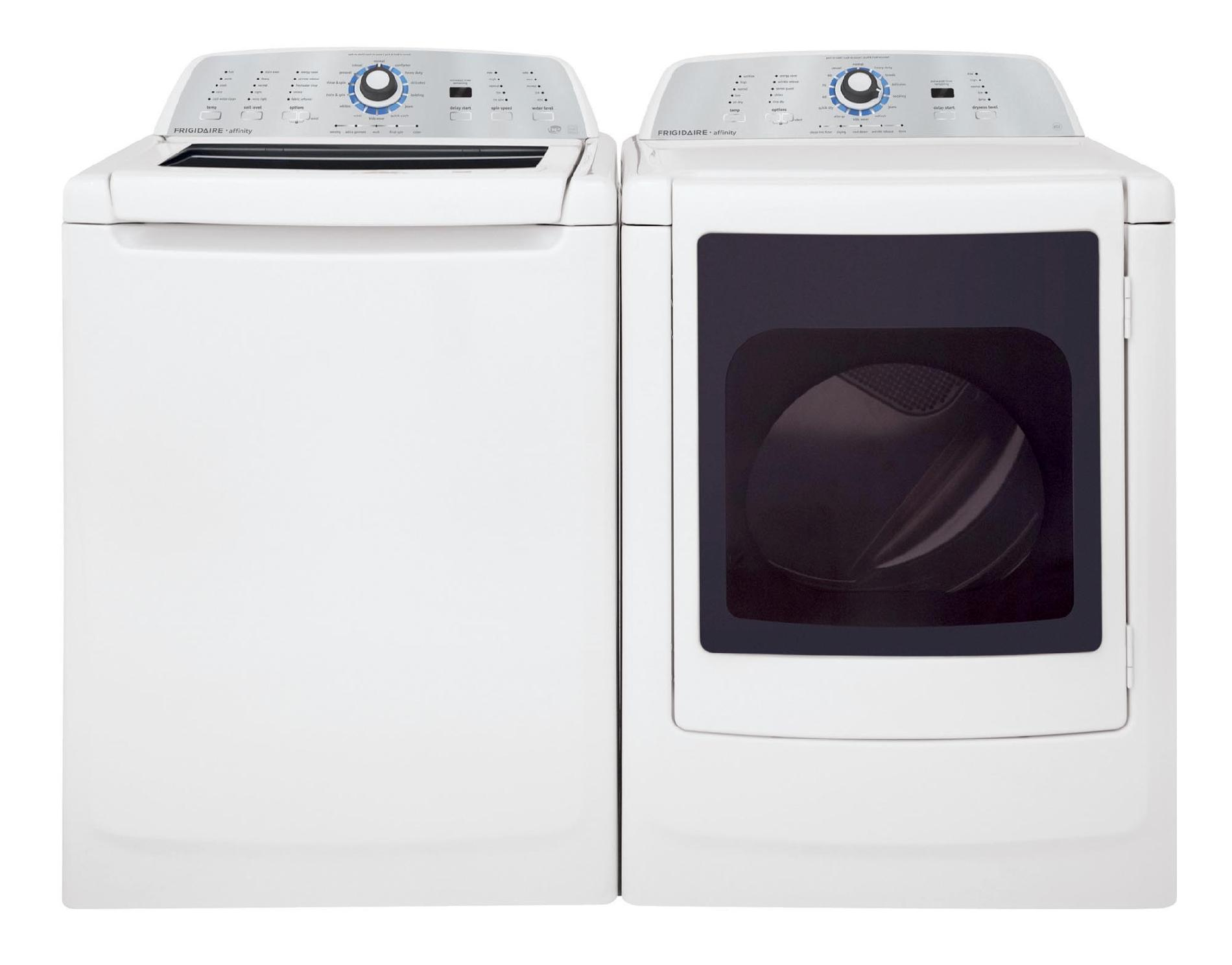 Frigidaire Affinity 7.0 cu. ft. Gas Dryer w/ Stainless-Steel Tumbler - White