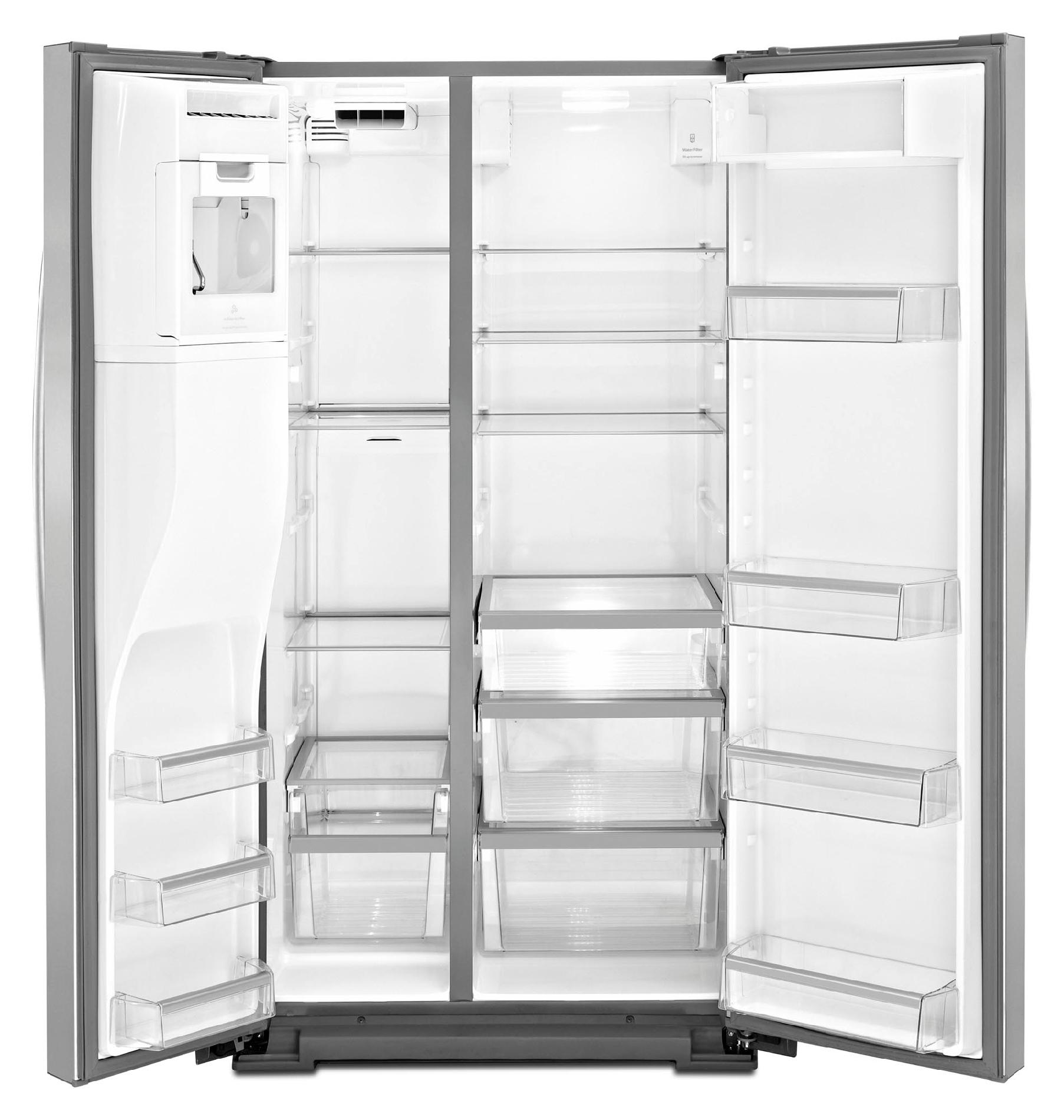 Whirlpool 26.5 cu. ft. Side-by-Side Refrigerator w/ Measured Fill - Stainless Steel