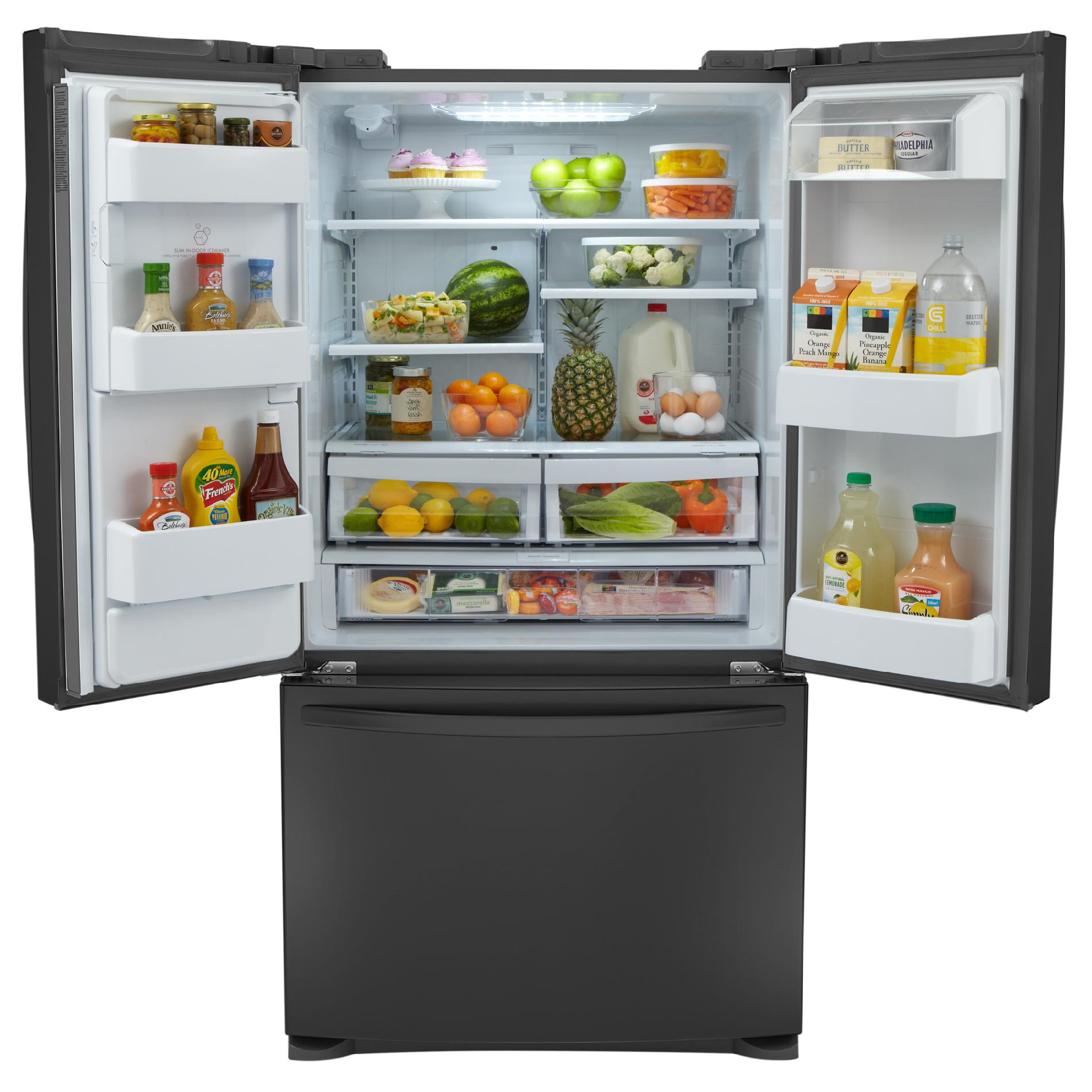 Kenmore 24.1 cu. ft. French Door Bottom-Freezer Refrigerator- Black