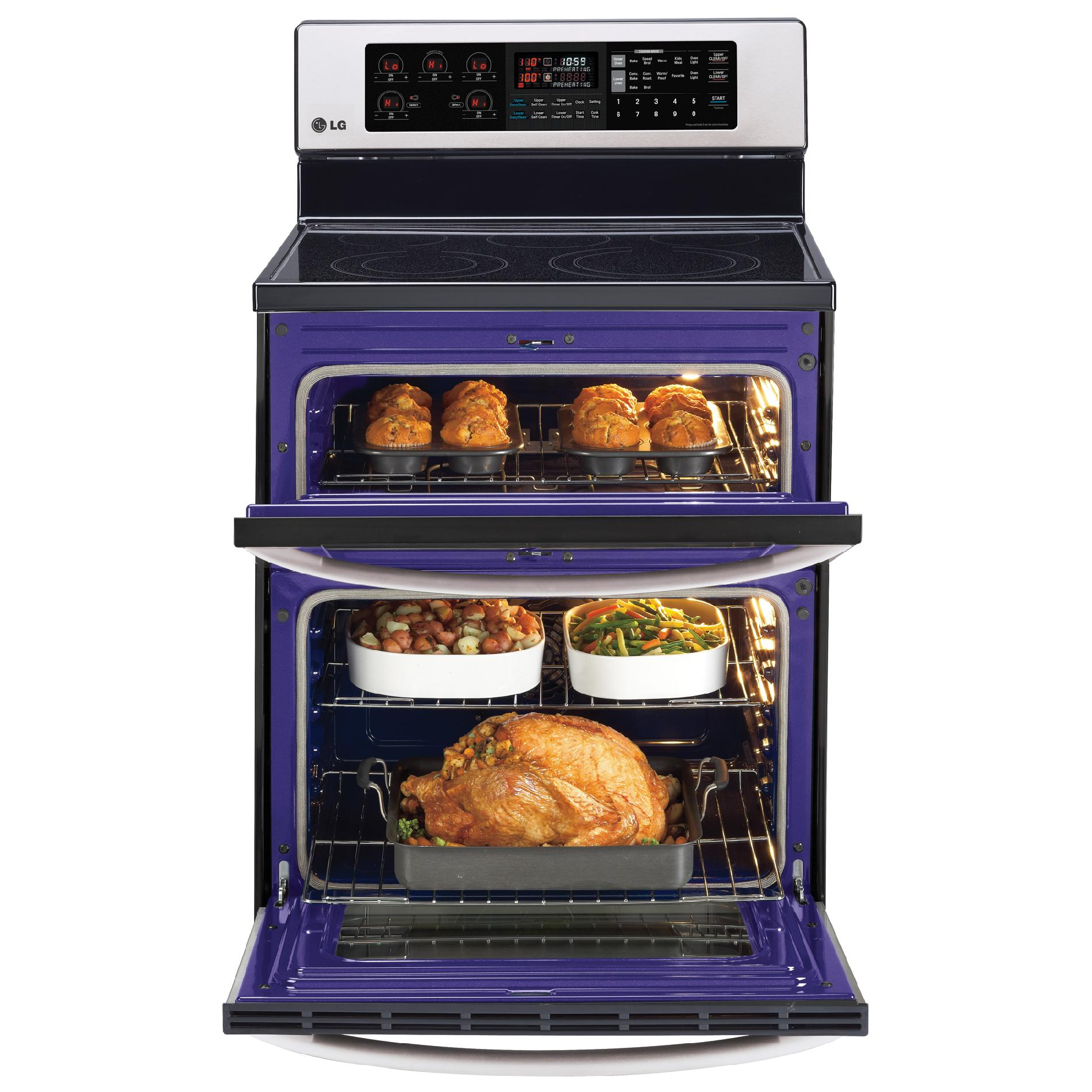 LG 6.7 cu. ft. Double-Oven Electric Range w/Infrared Grill - Stainless Steel