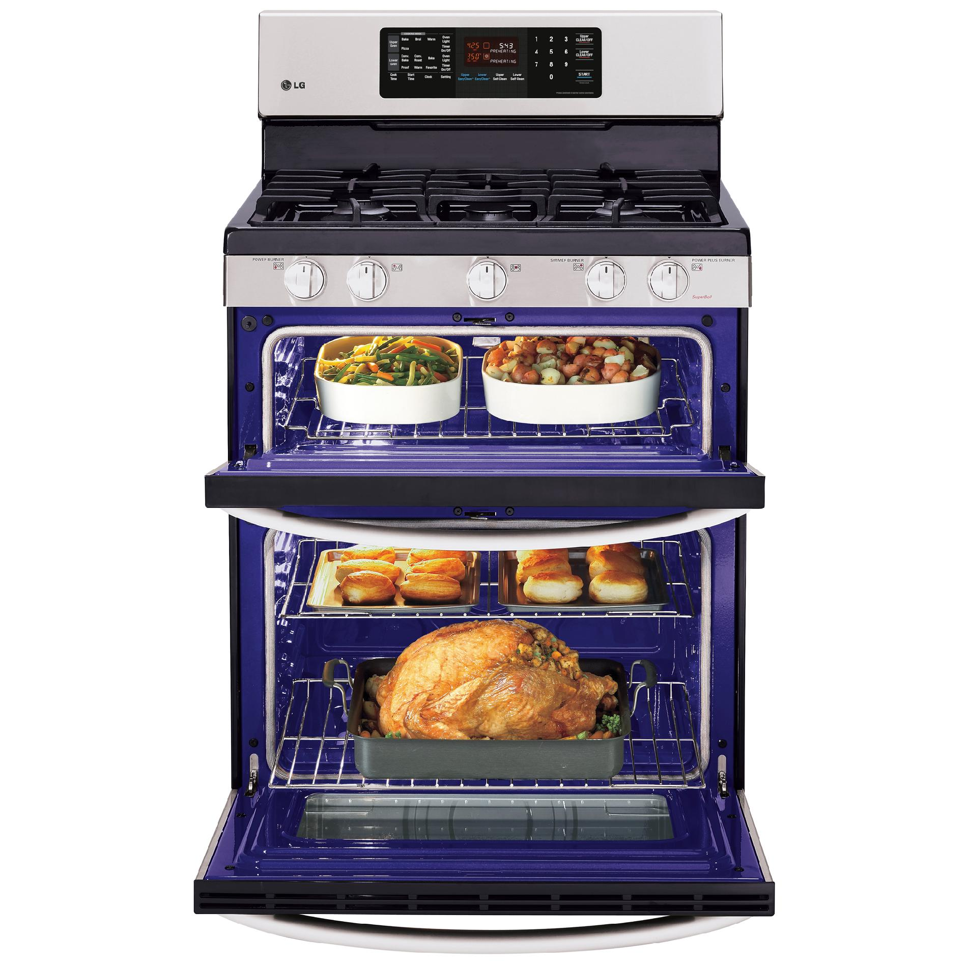 LG LDG3036ST 6.1 cu. ft. Double-Oven Gas Range w/EasyClean™ - Stainless Steel