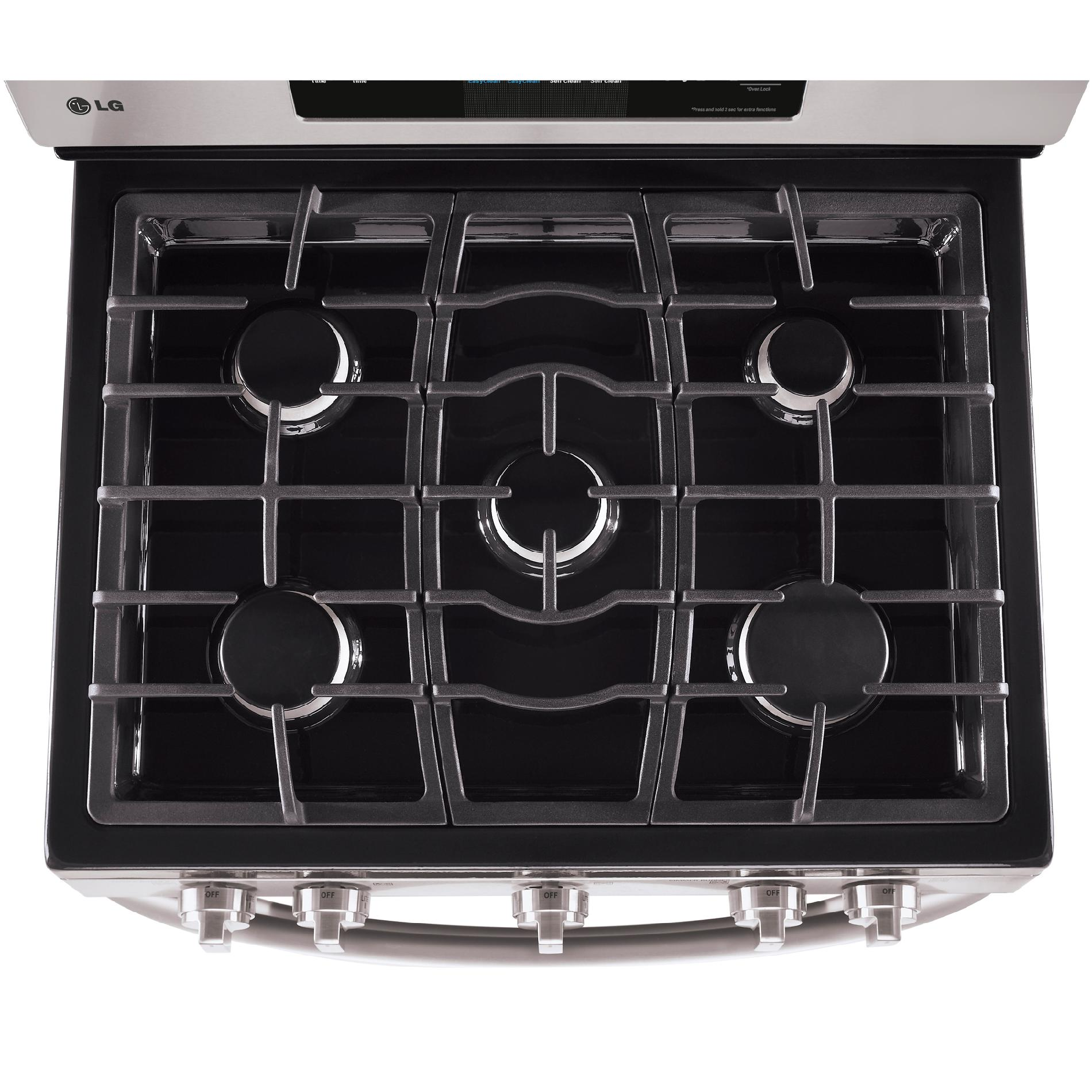 LG 6.1 cu. ft. Double-Oven Gas Range w/EasyClean™ - Stainless Steel
