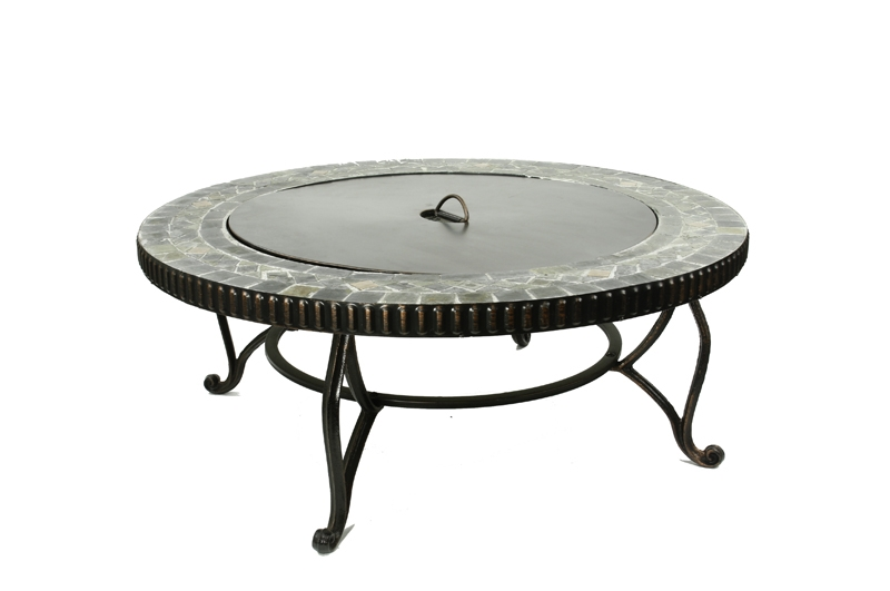 Imperial Uniflame Marble Classic Round Tile Fire Pit