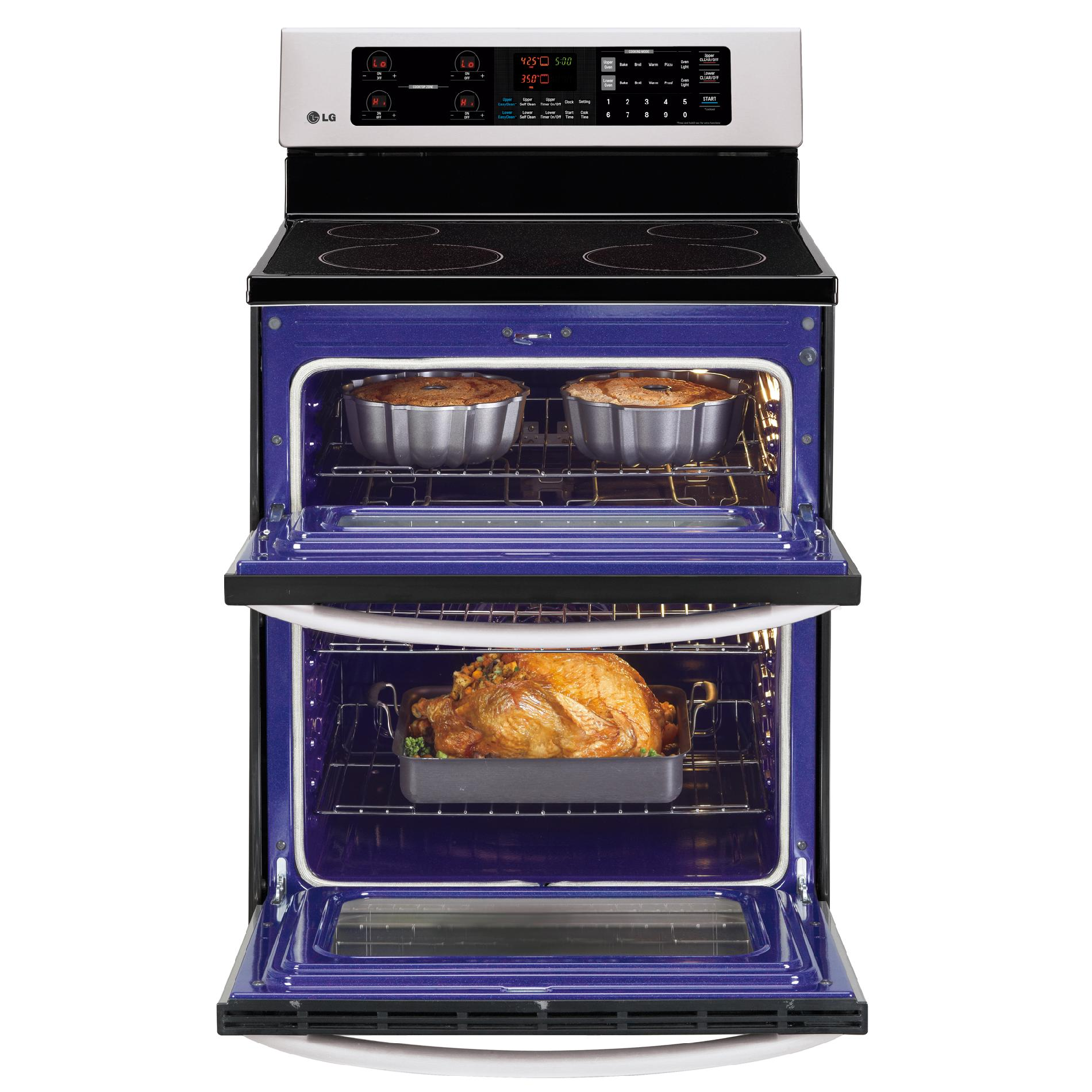 LG LDE3031ST 6.7 cu. ft. Double-Oven Electric Range - Stainless Steel