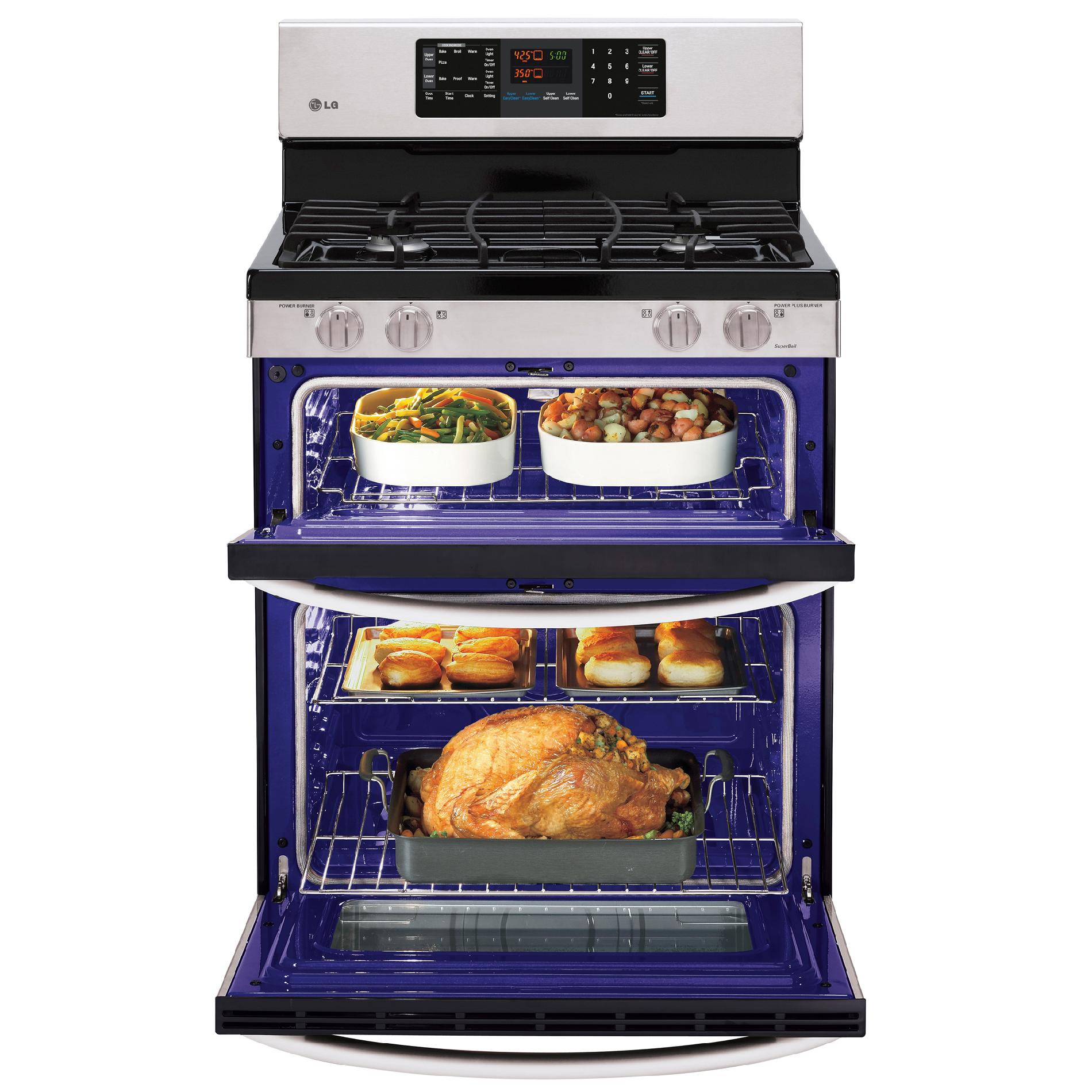 LG LDG3031ST 6.1 cu. ft. Double-Oven Gas Range w/EasyClean™ - Stainless Steel