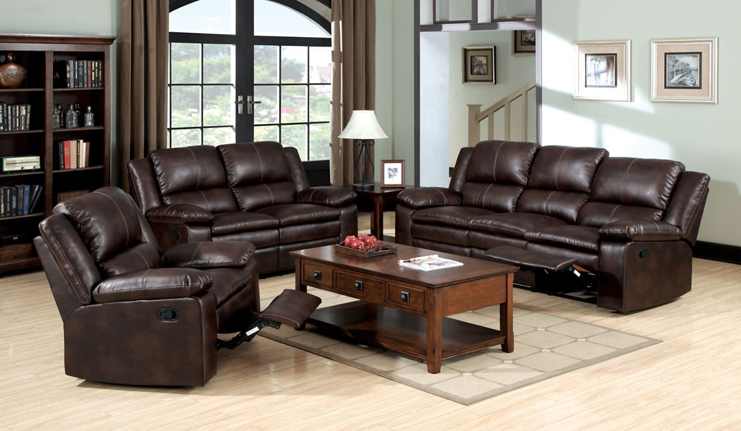 Venetian Worldwide Ripon Bonded Leather Match Recliner Sofa