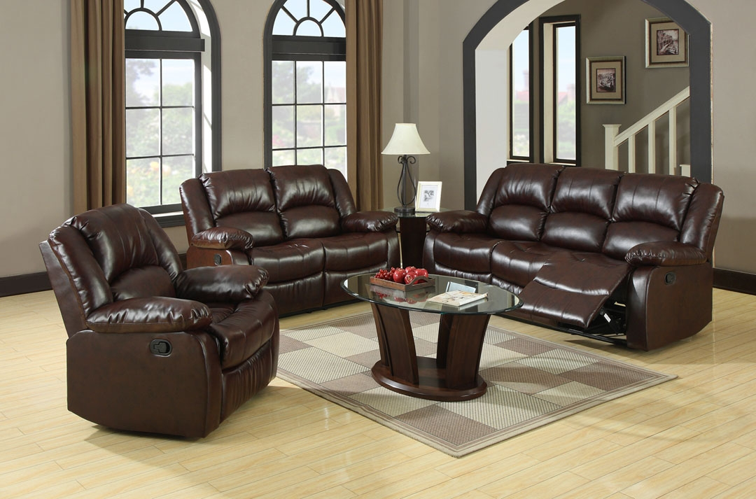 Venetian Worldwide Winslow Bonded Leather Match Recliner Sofa