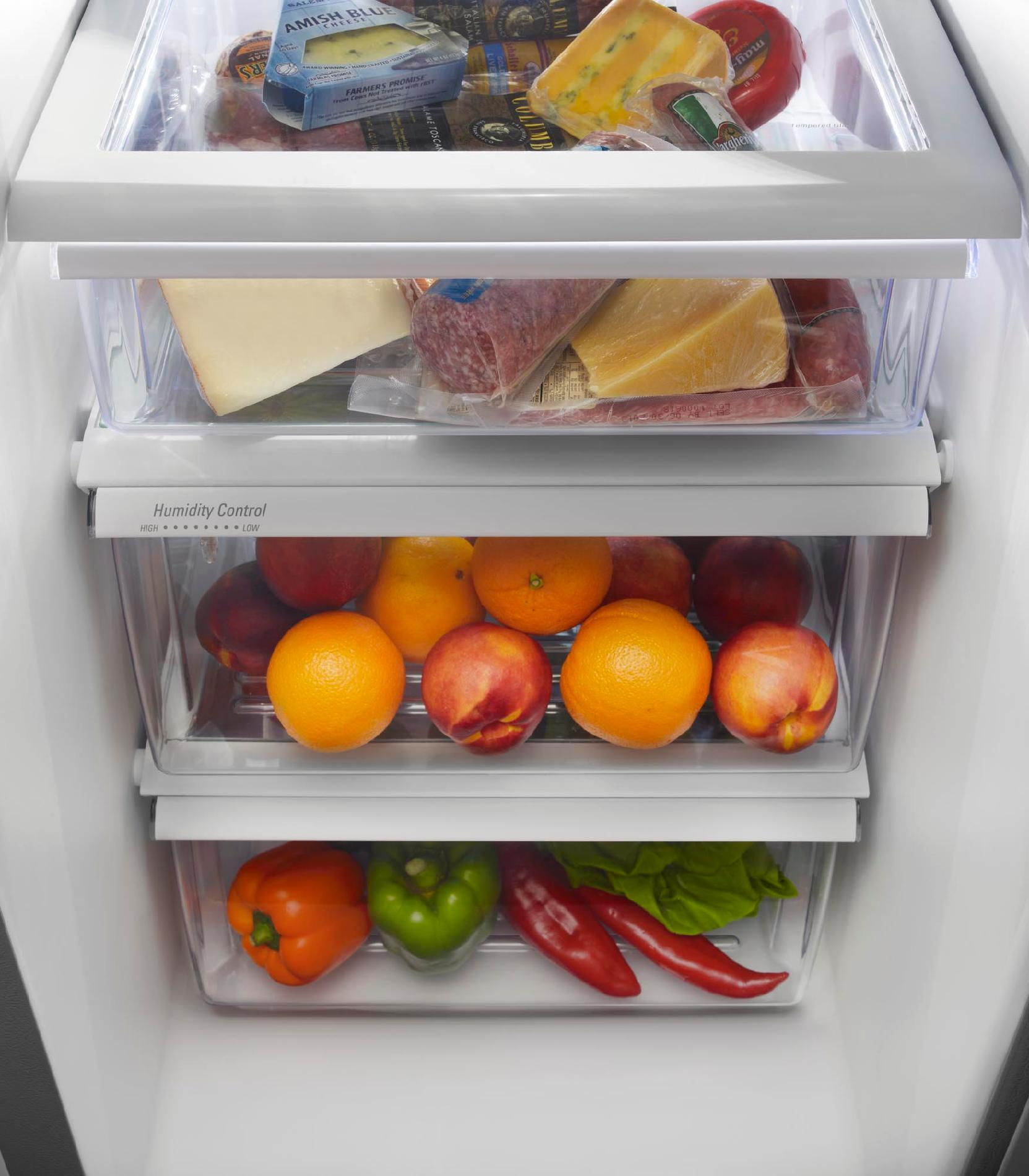 Maytag 22 cu. ft. Side-by-Side Refrigerator w/ Ice & Water Dispenser - Stainless Steel