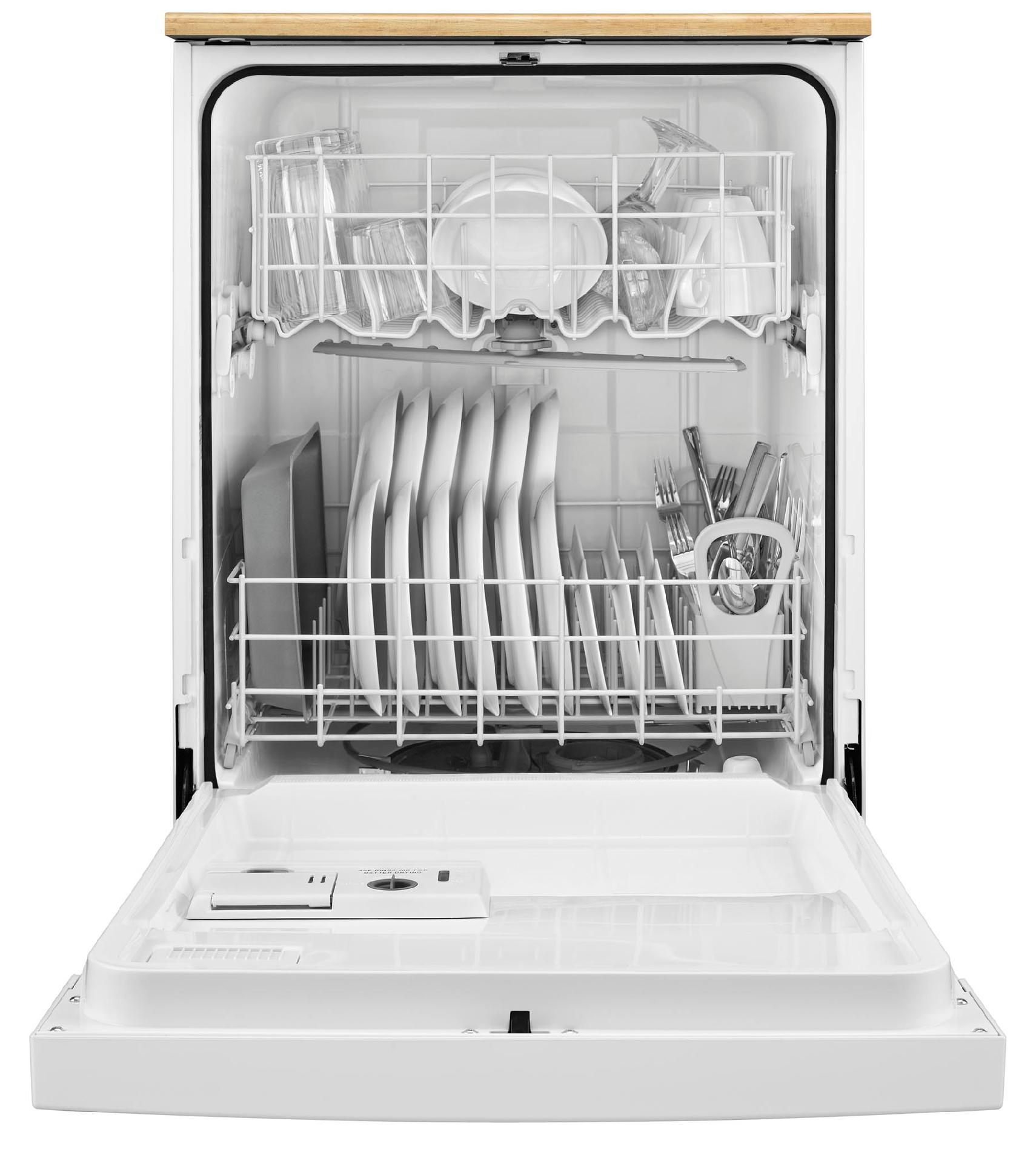 "Whirlpool WDP350PAAW 24"" Portable Dishwasher w/ 1-Hour Wash - White"